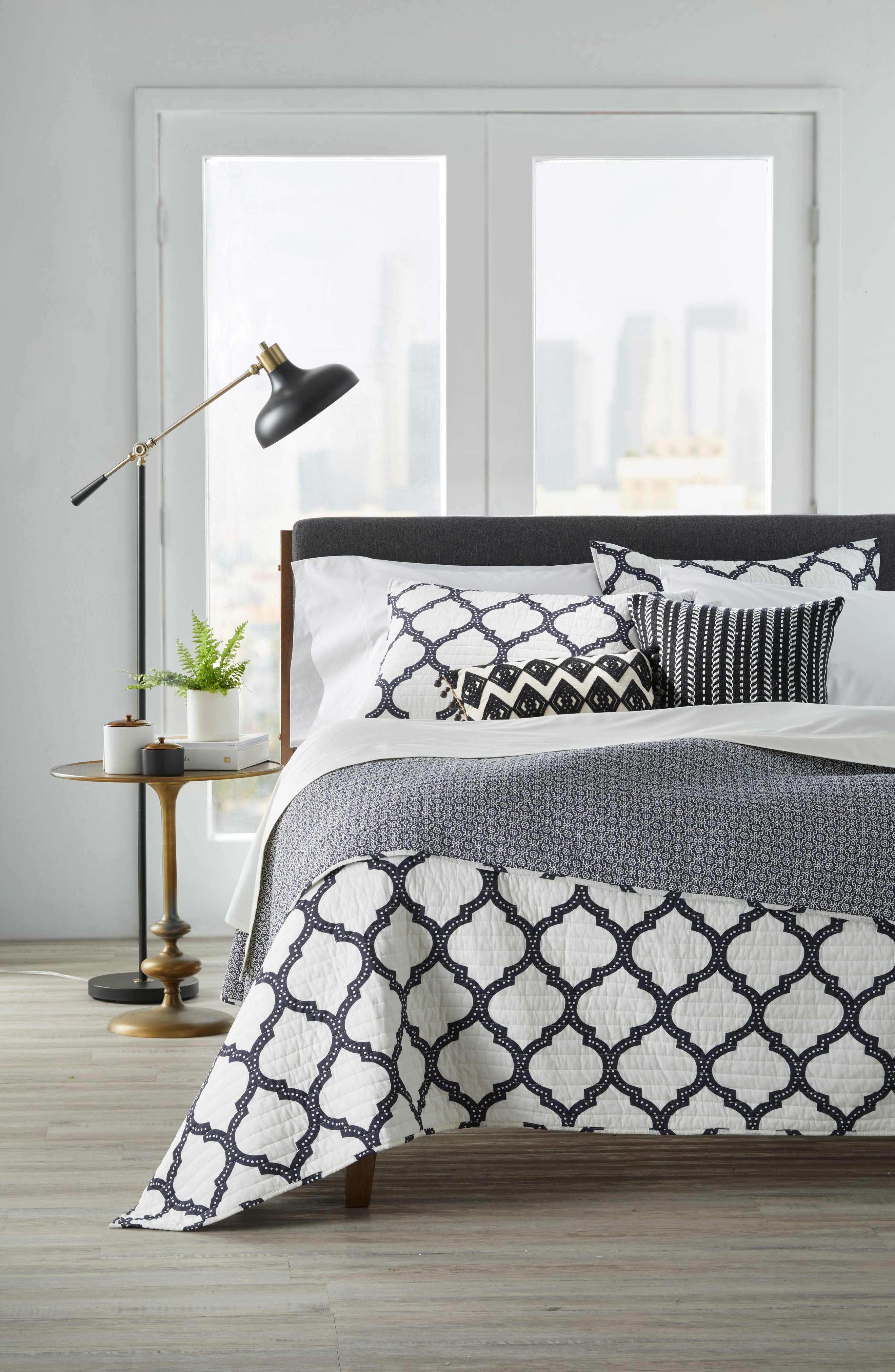 Main Image - Levtex Moroccan Charcoal Quilt