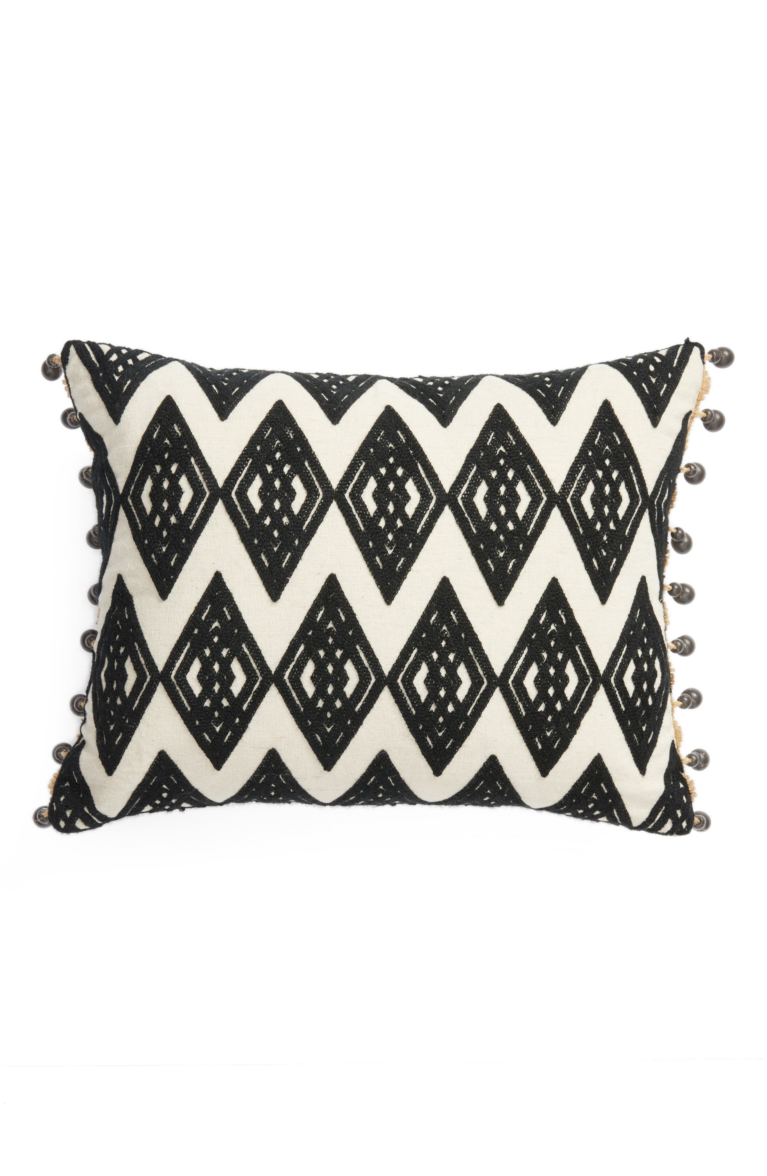 Moroccan Crewel Embroidered Pillow,                         Main,                         color, Taupe