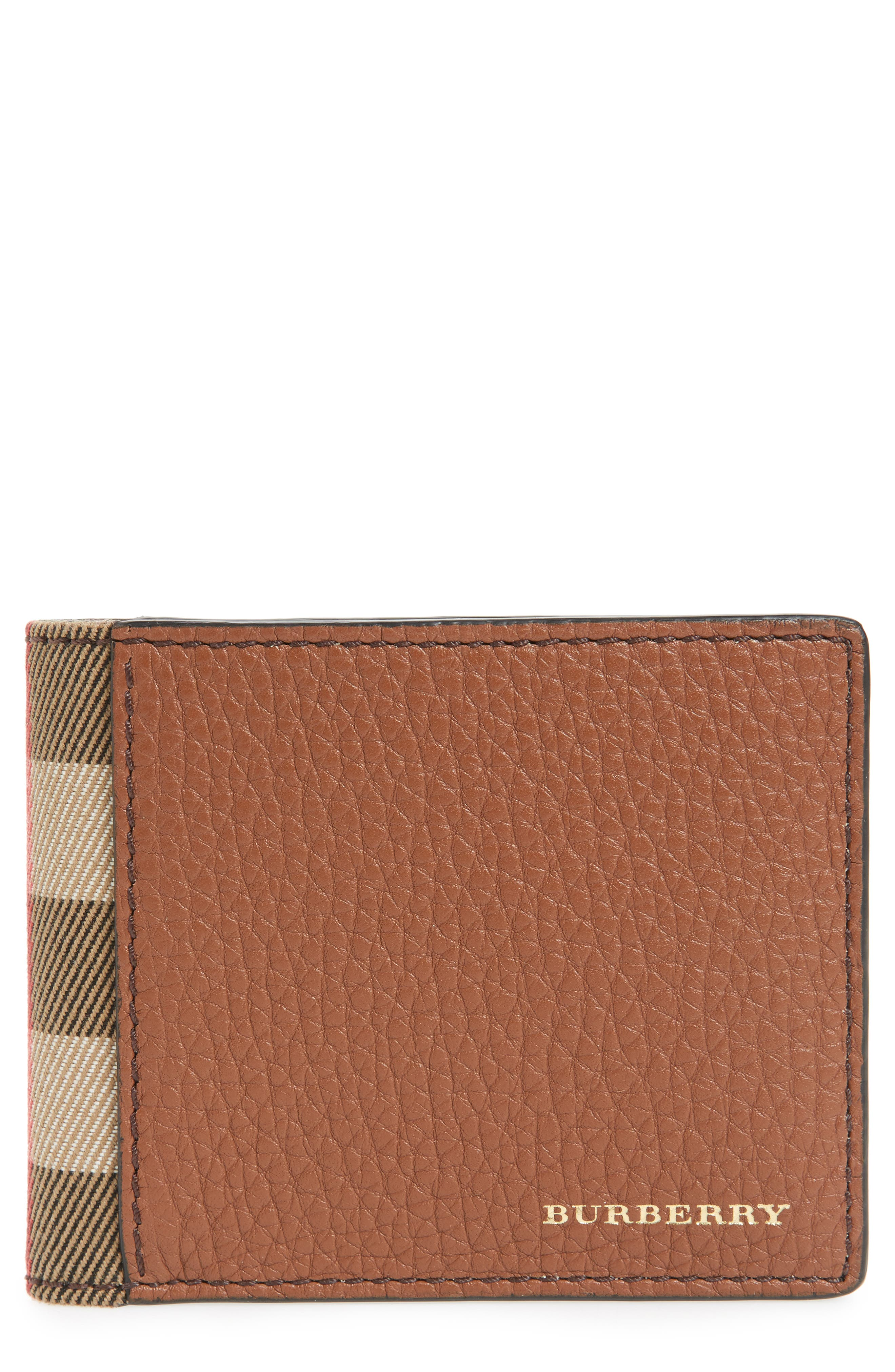 Leather Wallet,                         Main,                         color, Chestnut Brown