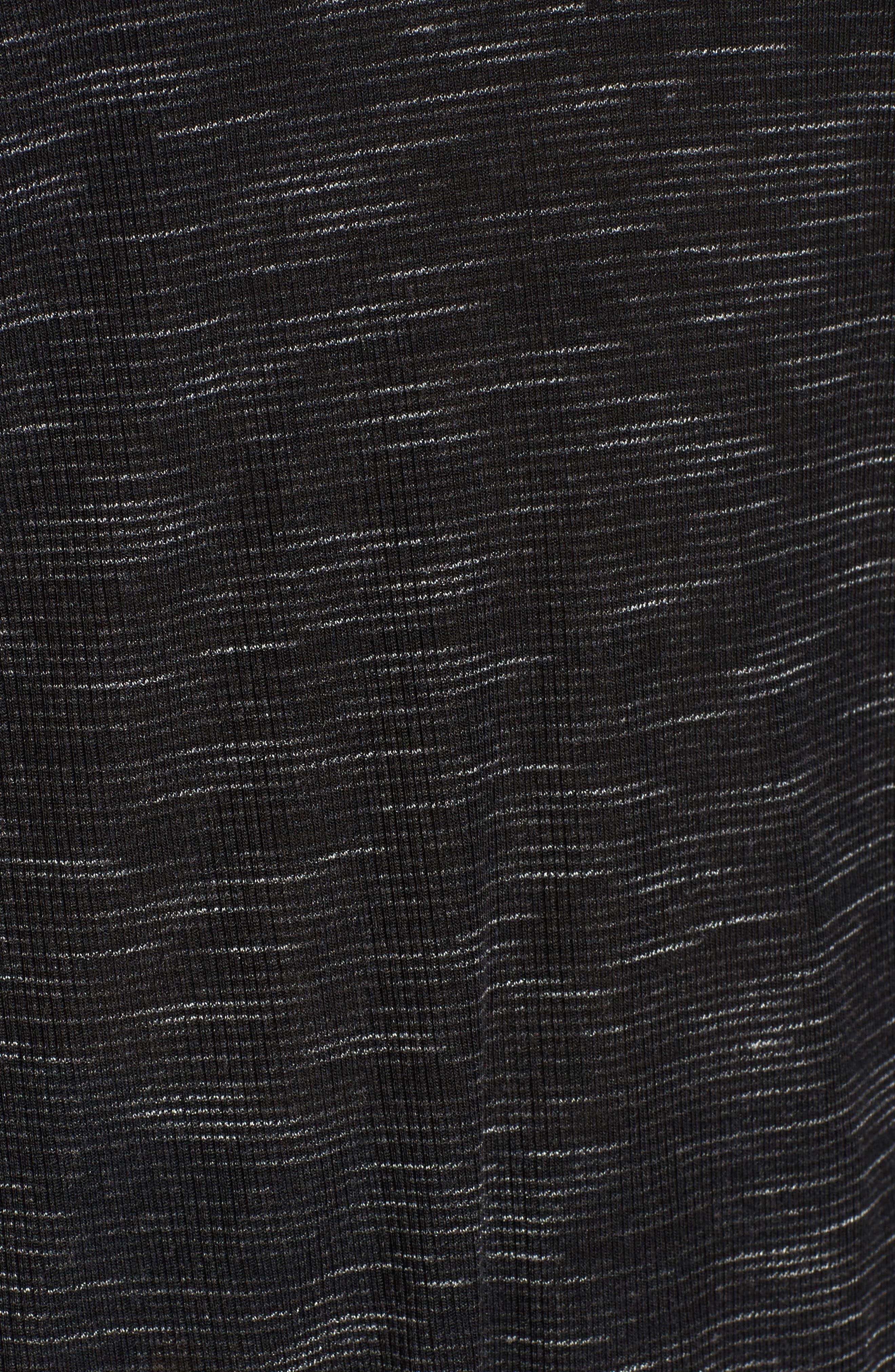 Scoop Neck Space Dye Tee,                             Alternate thumbnail 5, color,                             Black (W/ White Space Dye)