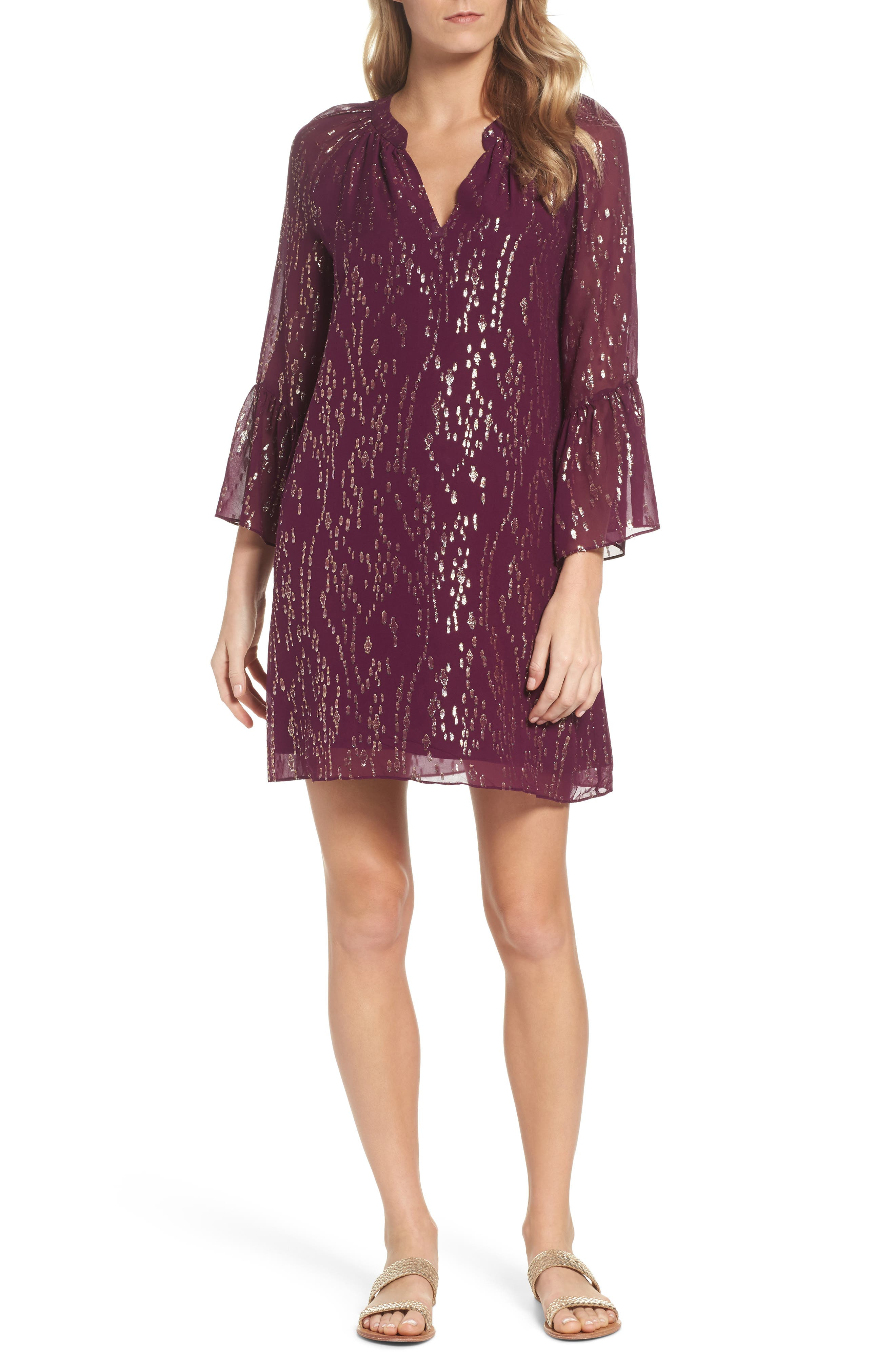 Matilda Tunic Dress,                             Main thumbnail 1, color,                             Shiraz