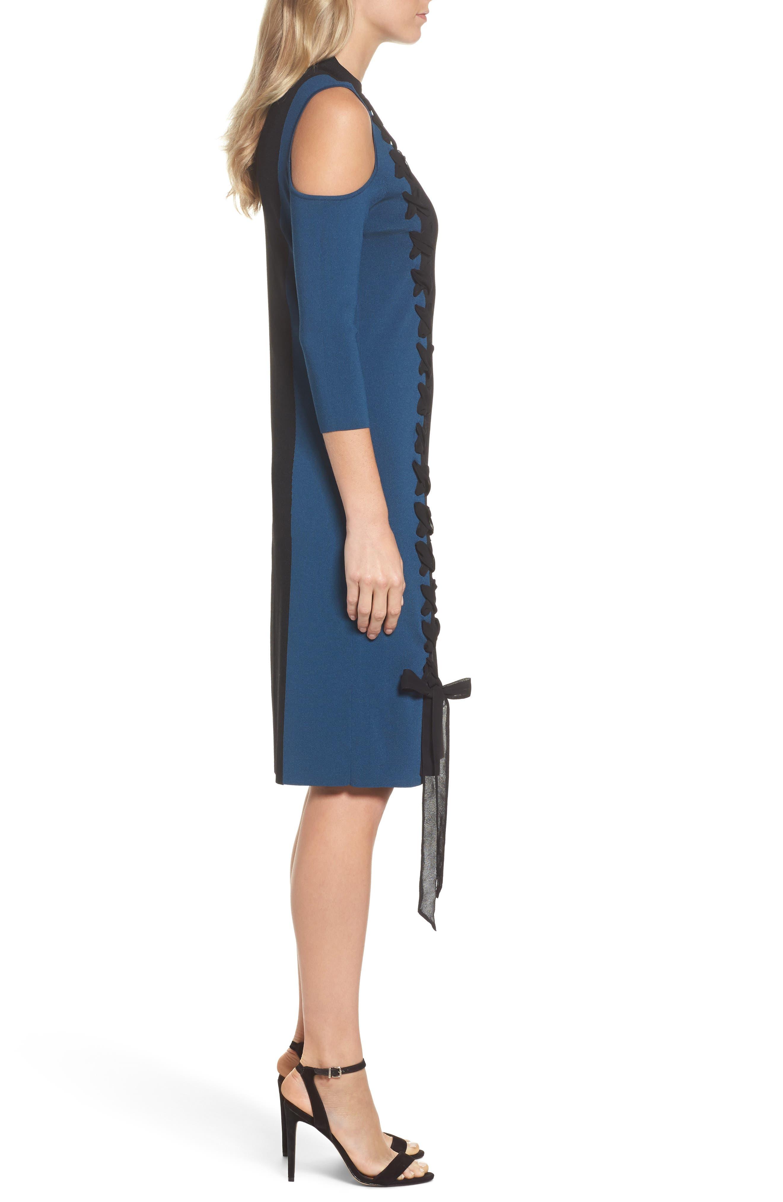 Alternate Image 3  - NIC+ZOE Swirl Cold Shoulder Dress