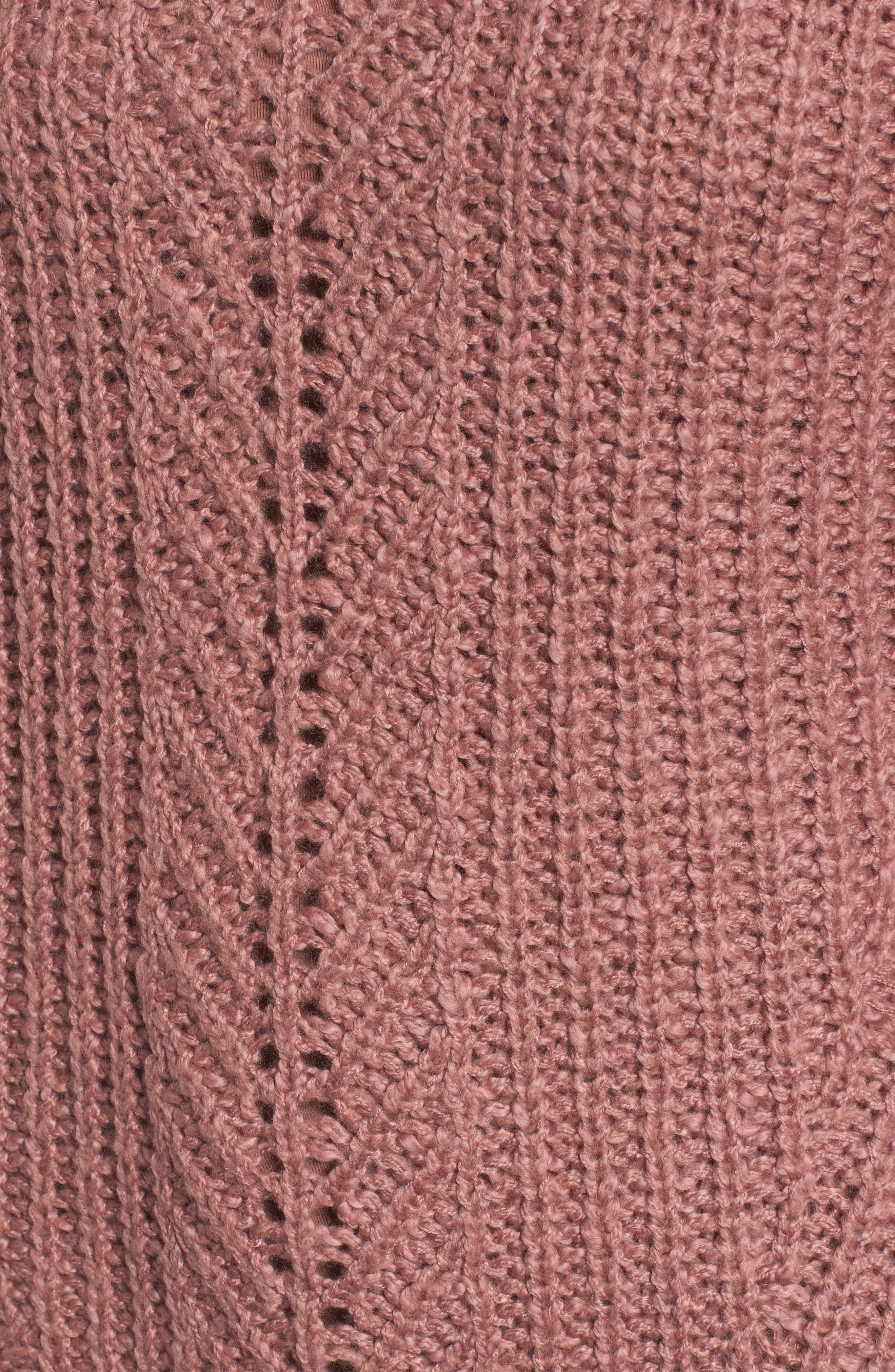 Open Stitch Sweater,                             Alternate thumbnail 5, color,                             Dusty Pink