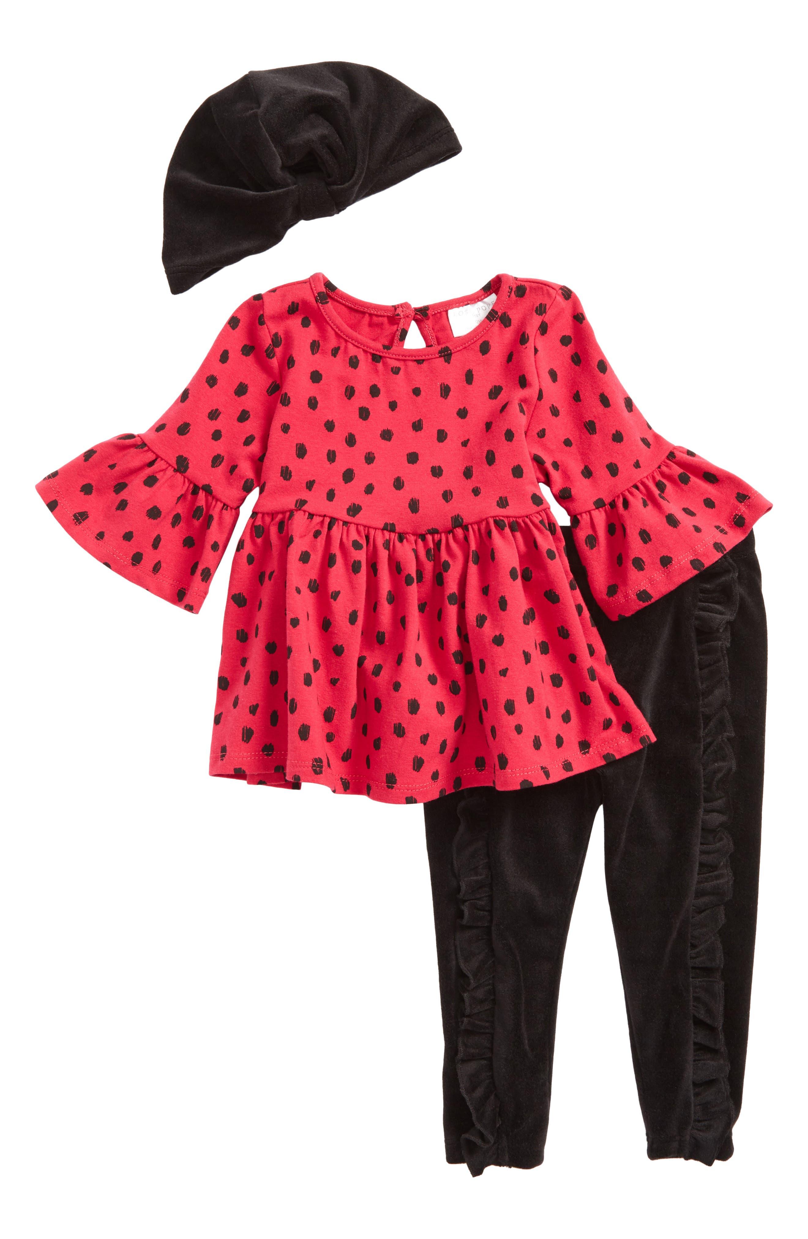 Rosie Pope Hat, Tunic & Leggings Set (Baby Girls)