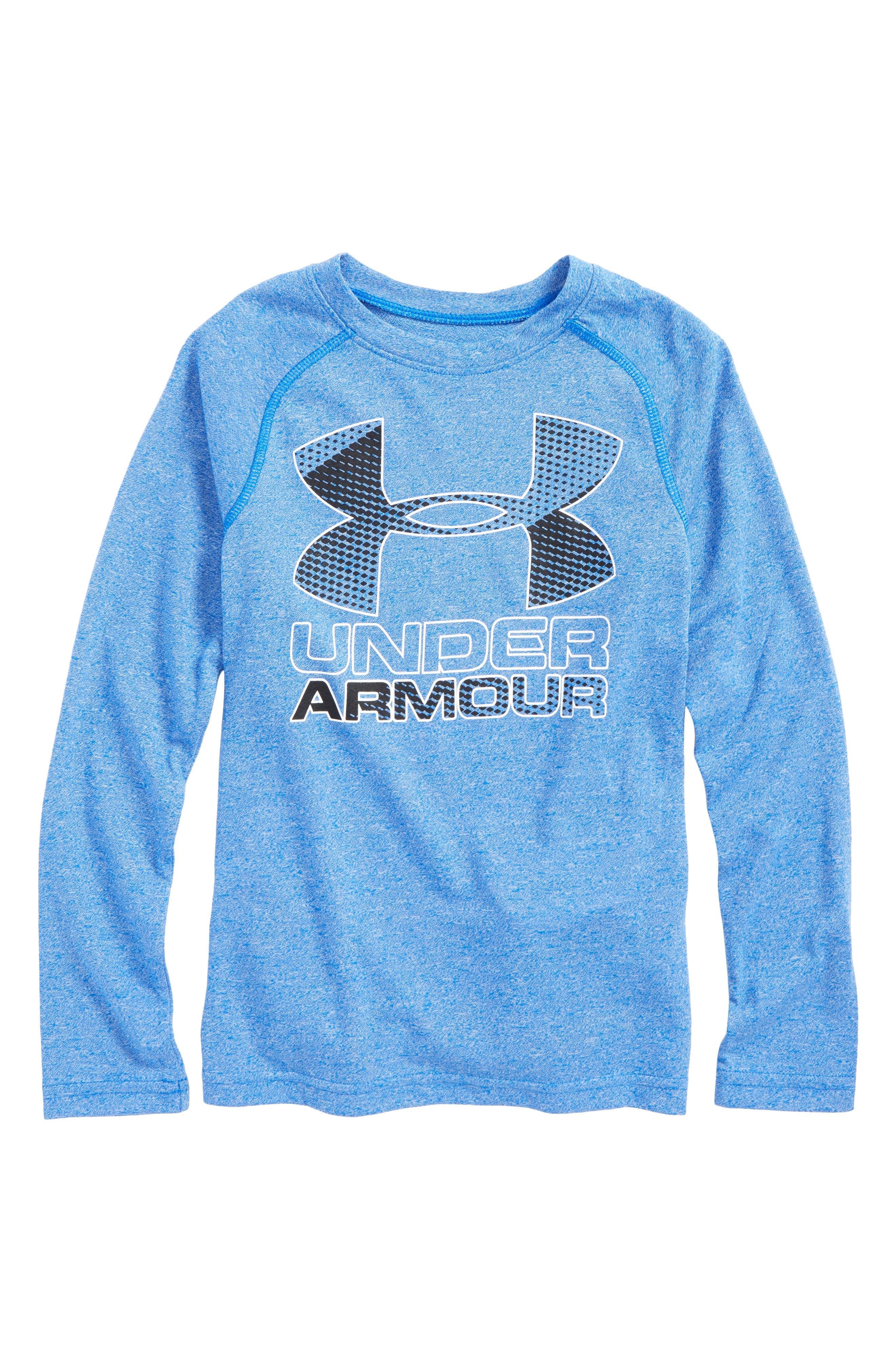 Logo Graphic HeatGear<sup>®</sup> T-Shirt,                             Main thumbnail 1, color,                             Ultra Blue/ Black