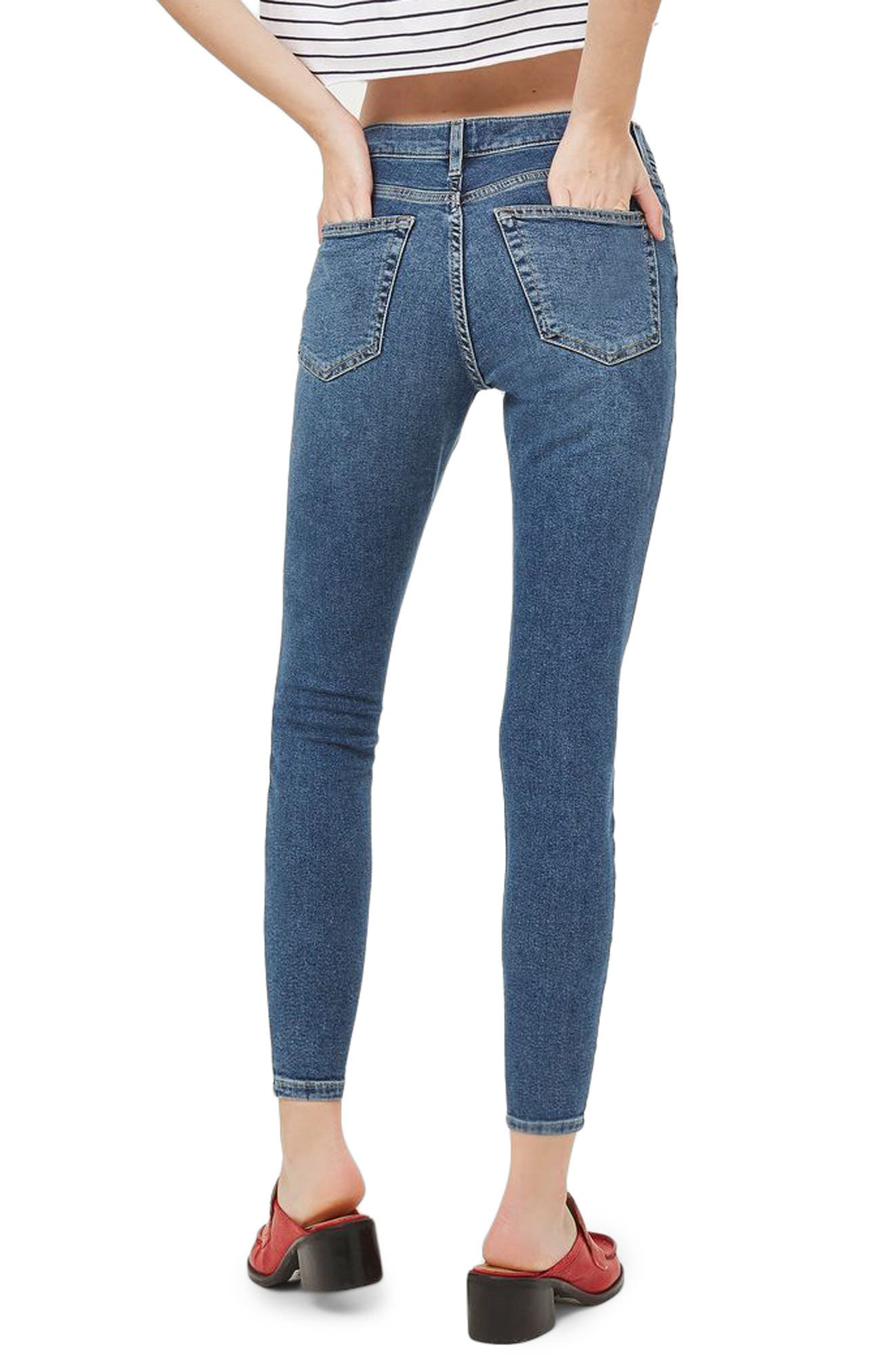 Jamie High Waist Skinny Jeans,                             Alternate thumbnail 2, color,                             Mid Denim