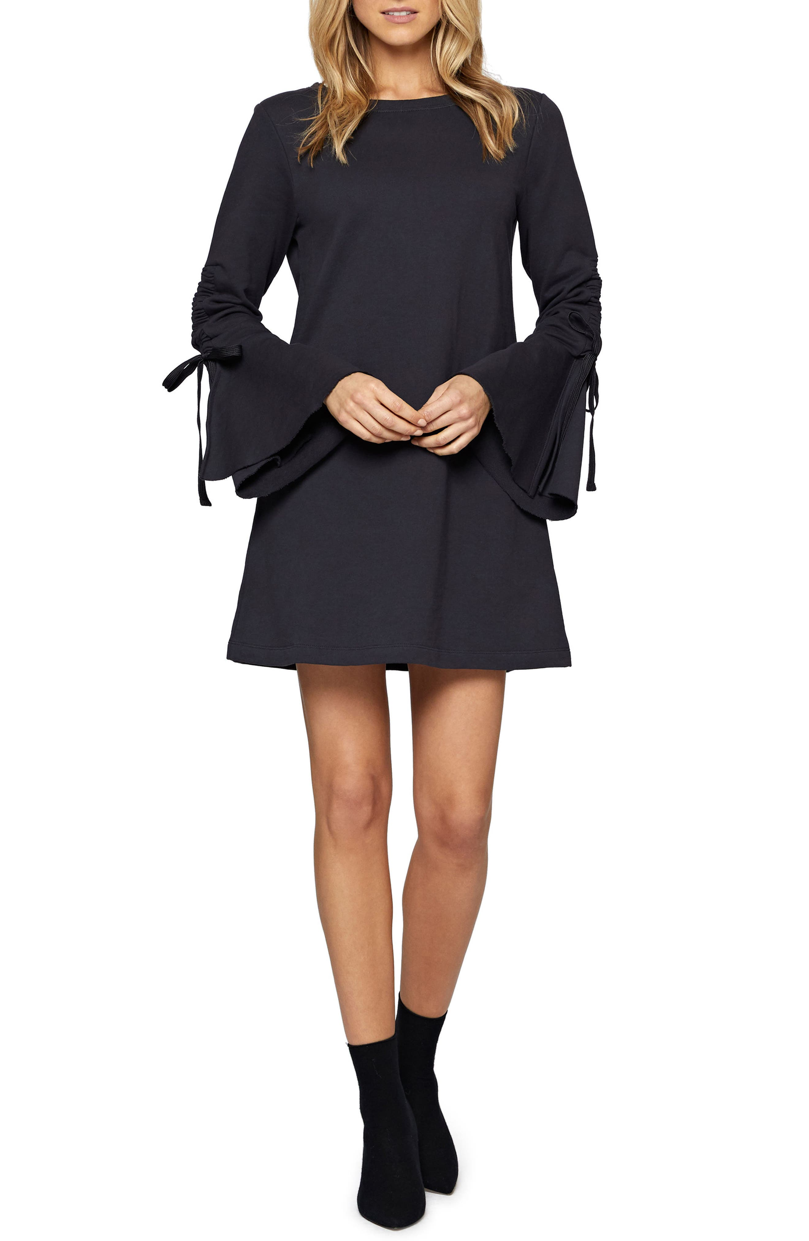 Alternate Image 1 Selected - Sanctuary Giovana Tie Sleeve Minidress (Regular & Petite)