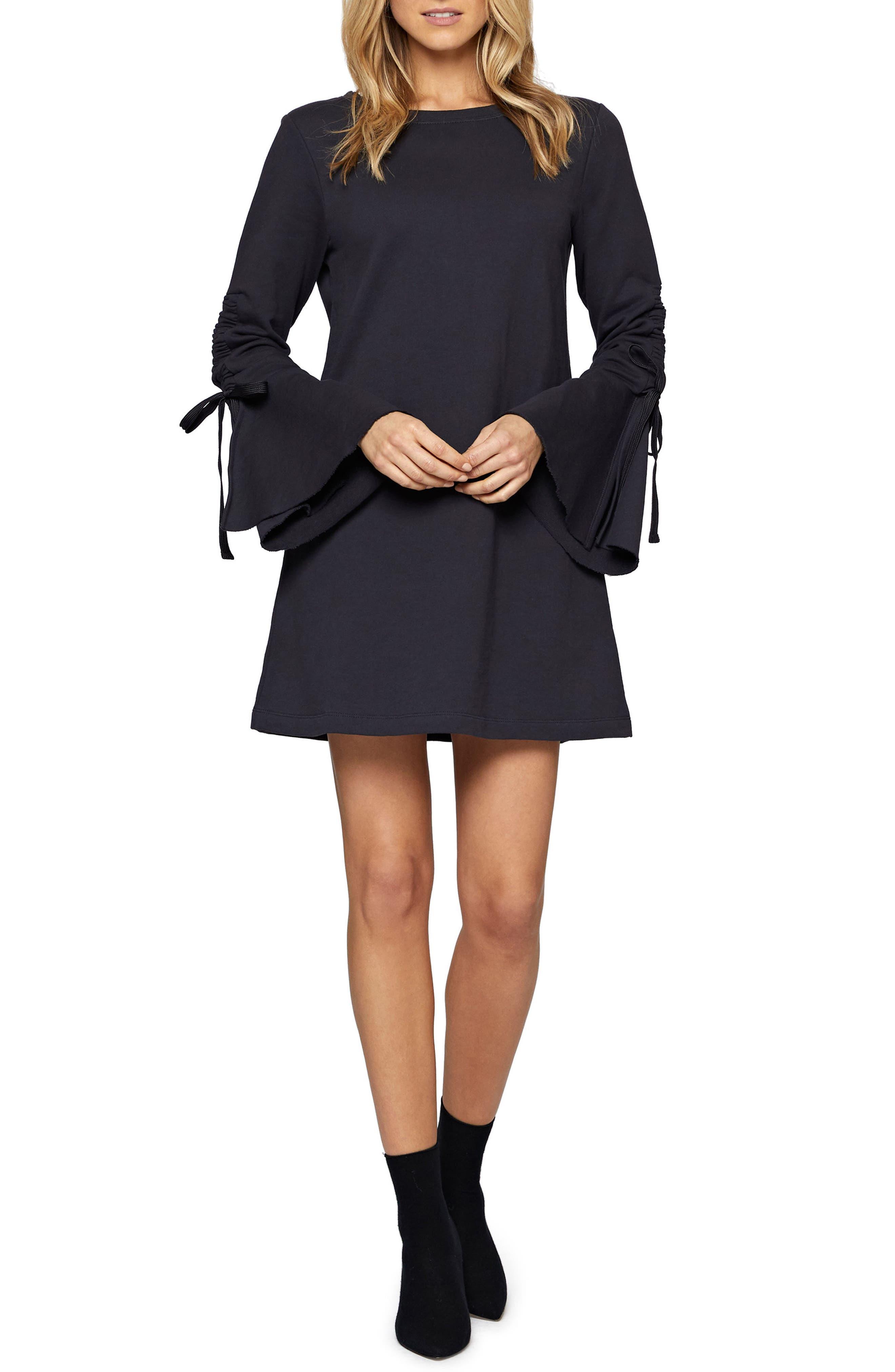 Giovana Tie Sleeve Minidress,                         Main,                         color, Heritage Navy