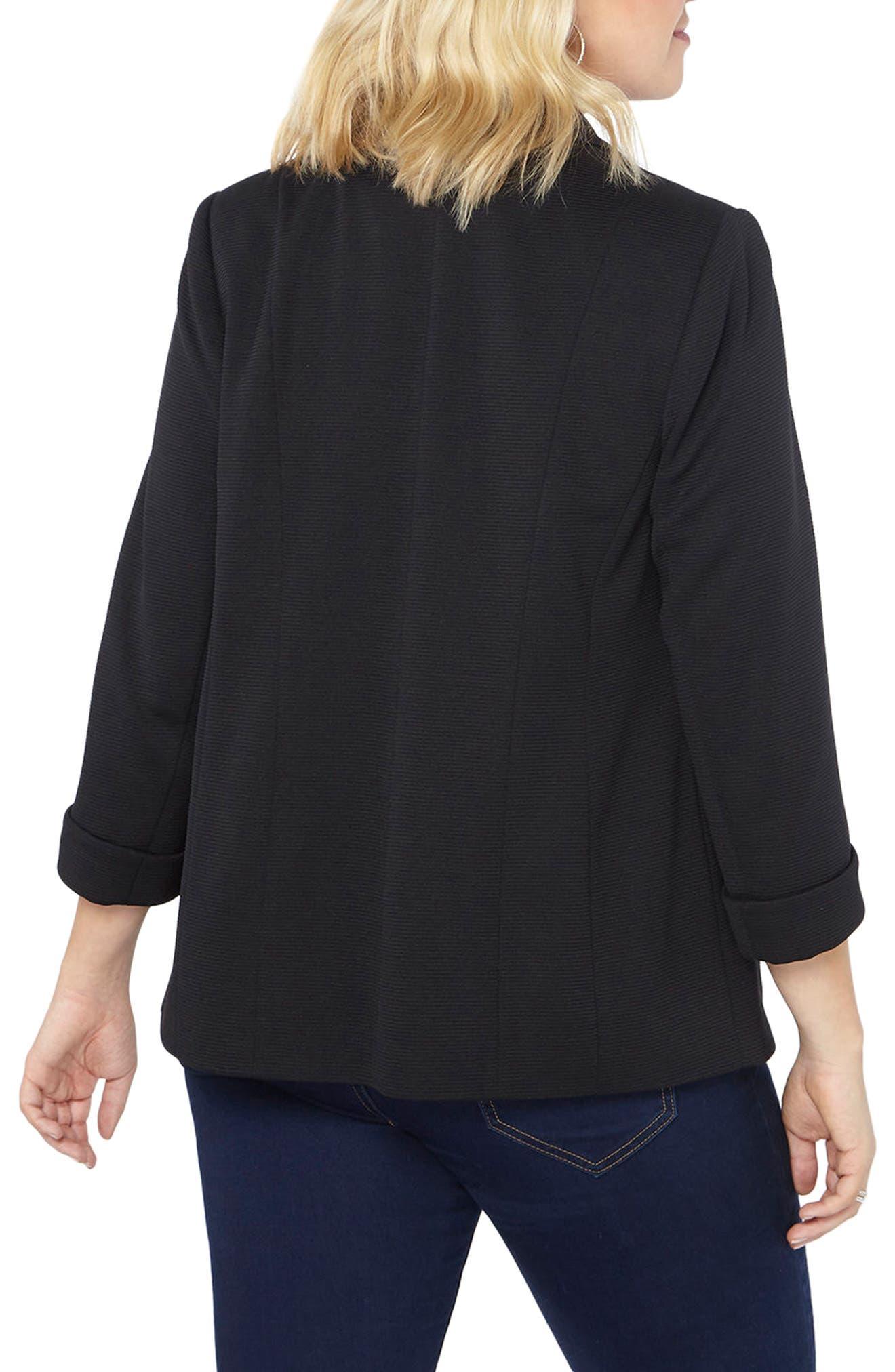 Alternate Image 2  - Evans Ribbed Knit Blazer (Plus Size)