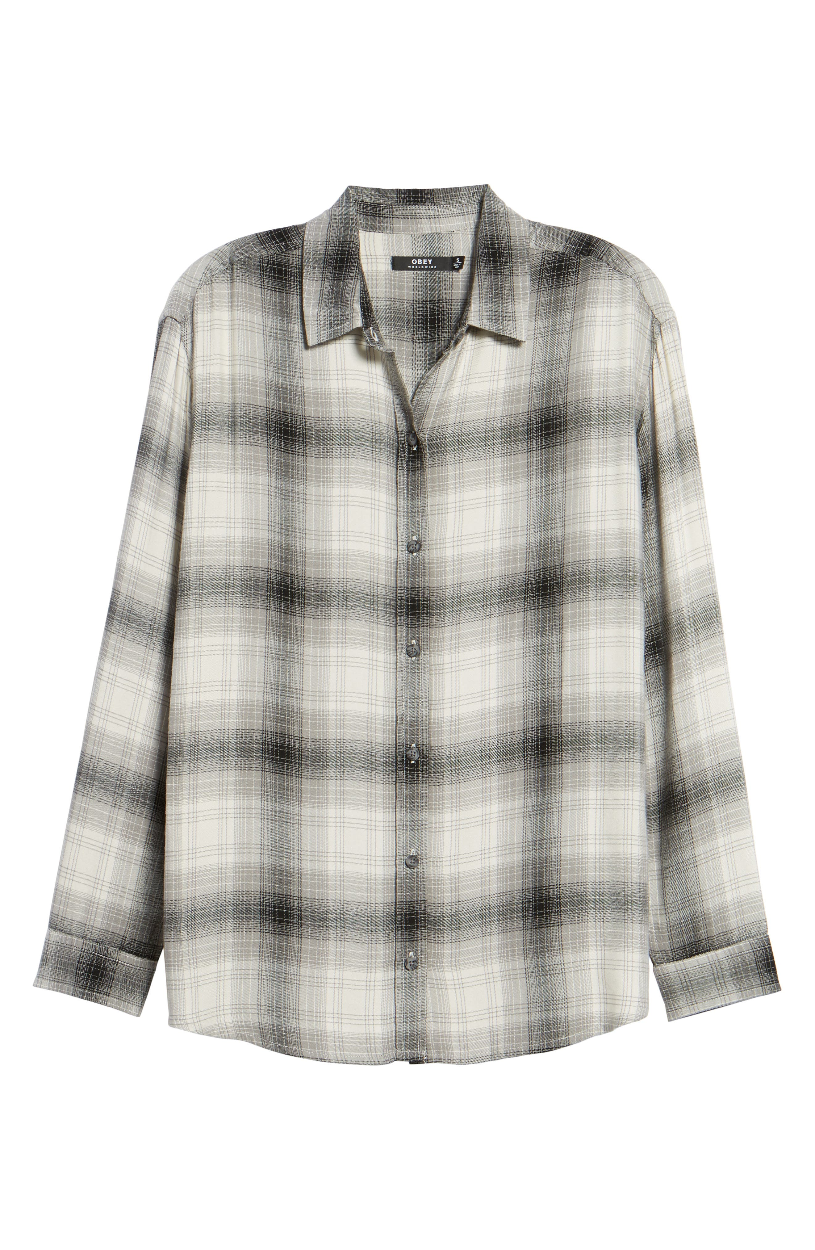 Alternate Image 6  - Obey Sky Plaid Shirt
