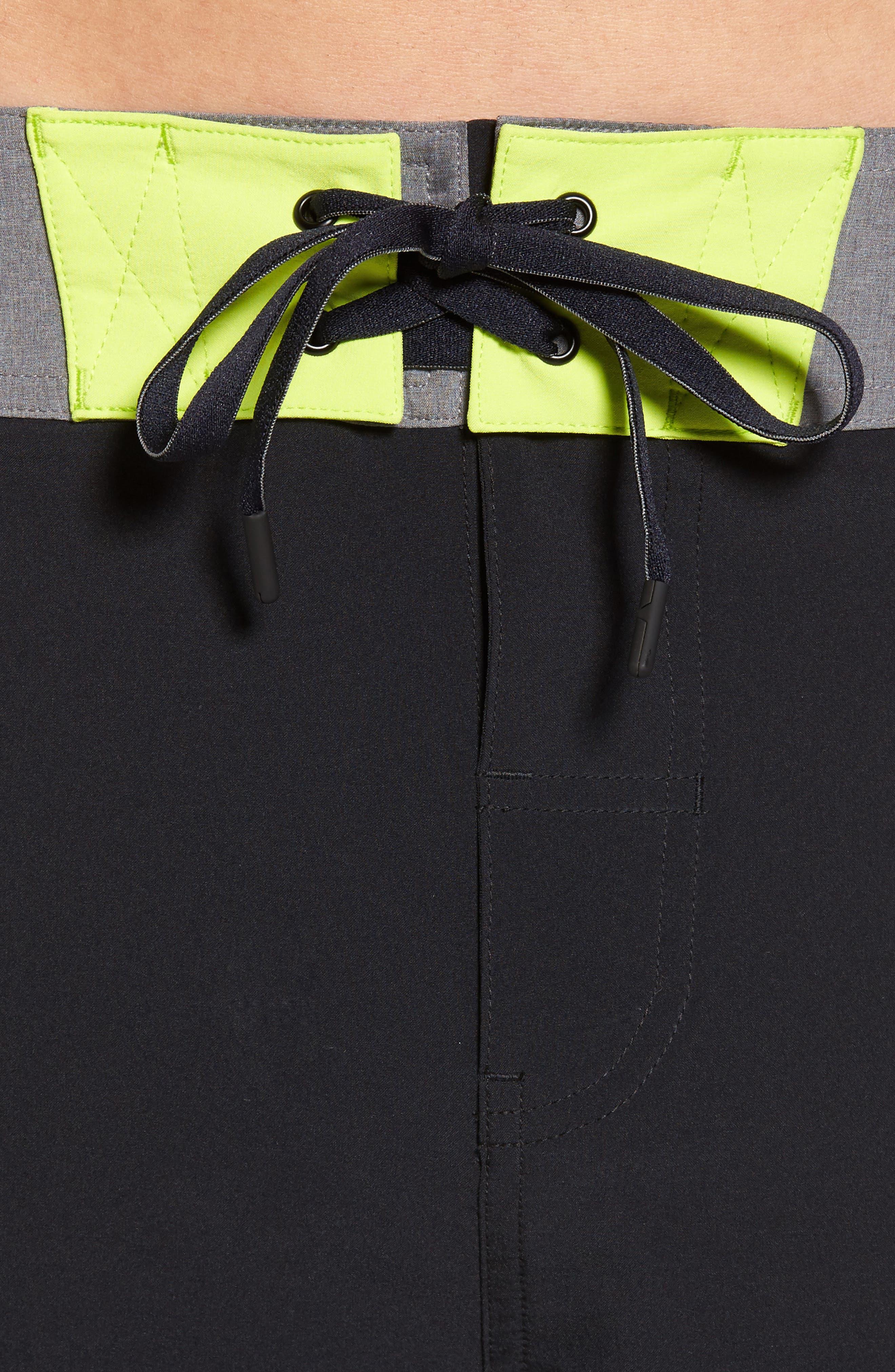 Flex Hybrid Athletic Shorts,                             Alternate thumbnail 4, color,                             Black
