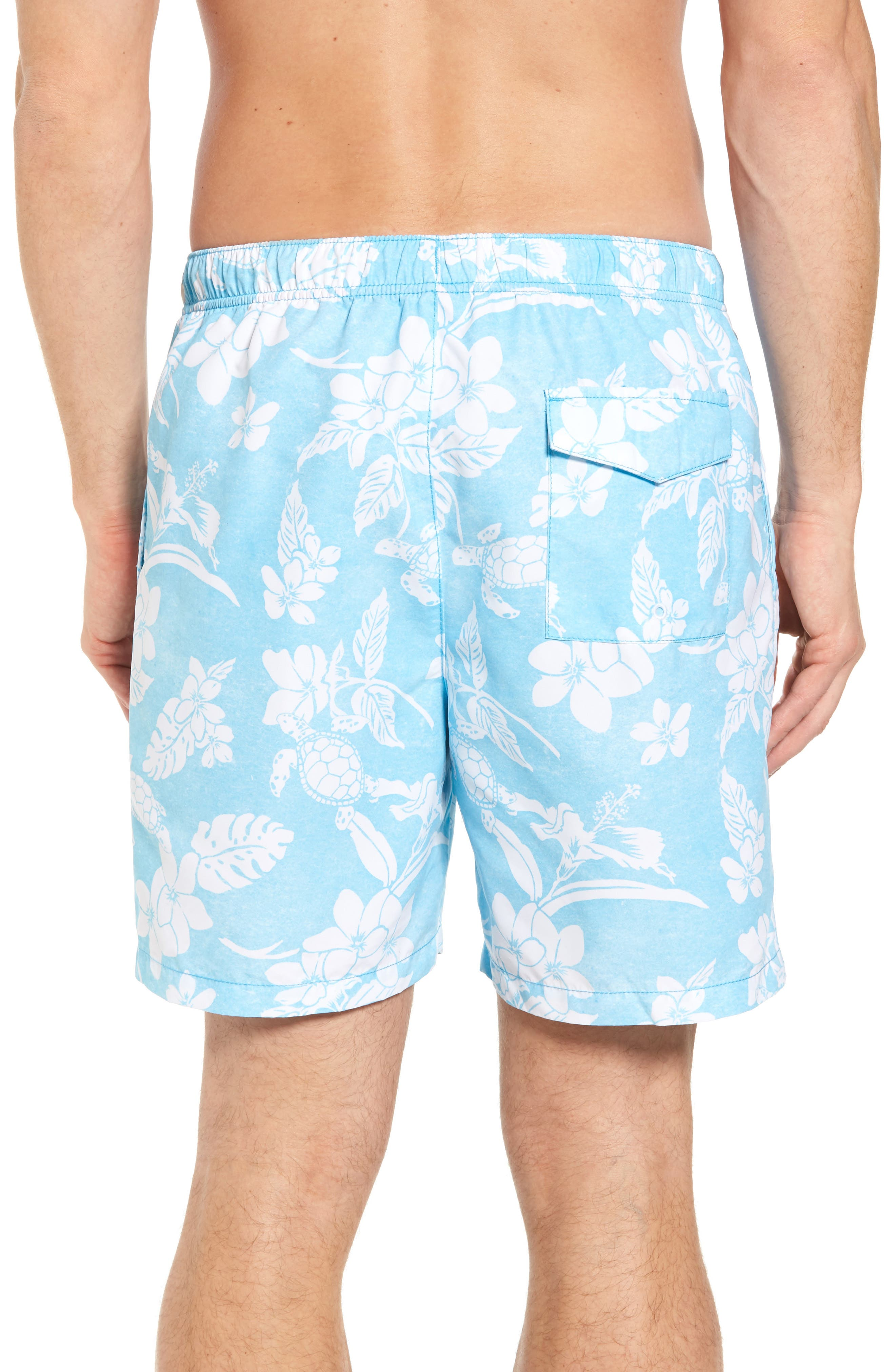 Naples Turtle Beach Swim Trunks,                             Alternate thumbnail 2, color,                             Breeze Blue