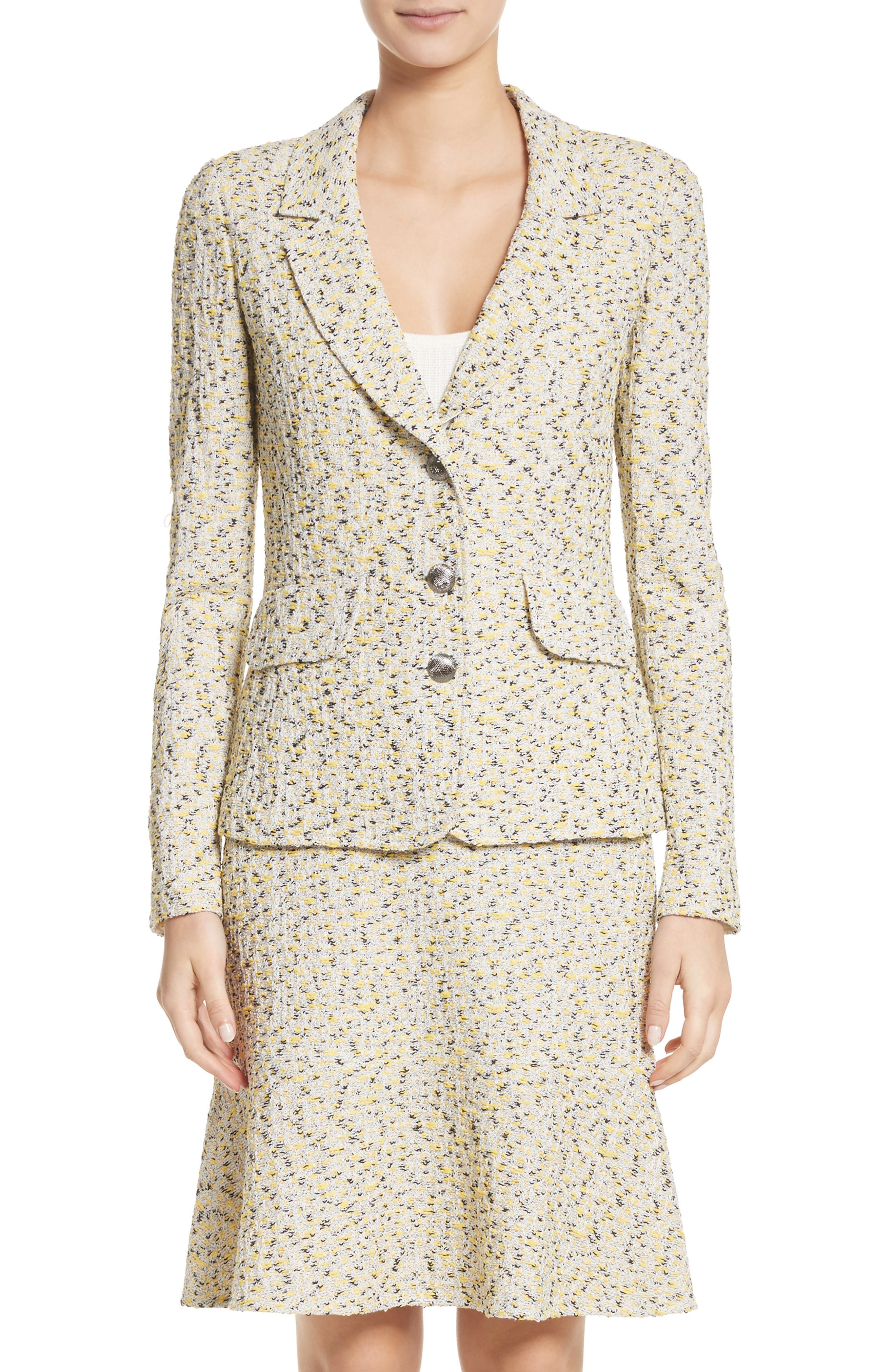 Main Image - St. John Collection Romee Tweed Knit Blazer