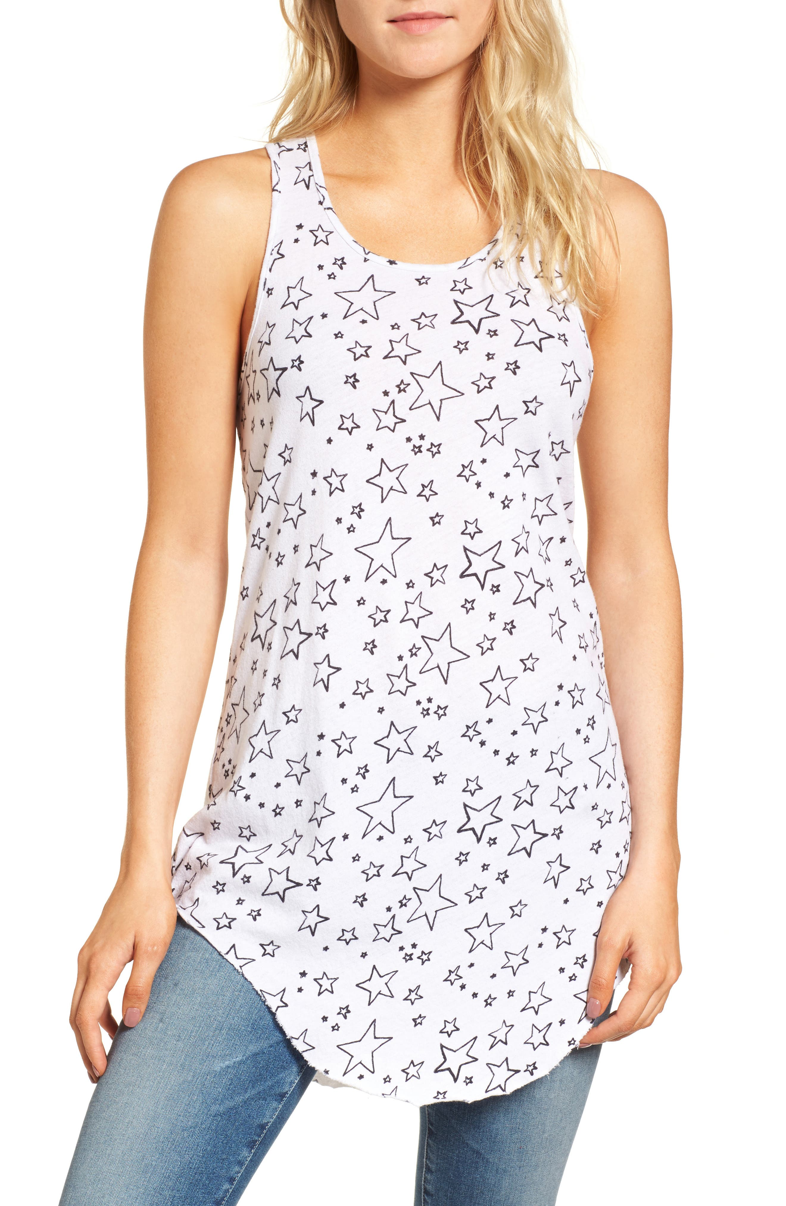 Long Layering Tank,                         Main,                         color, Lucky Star Day