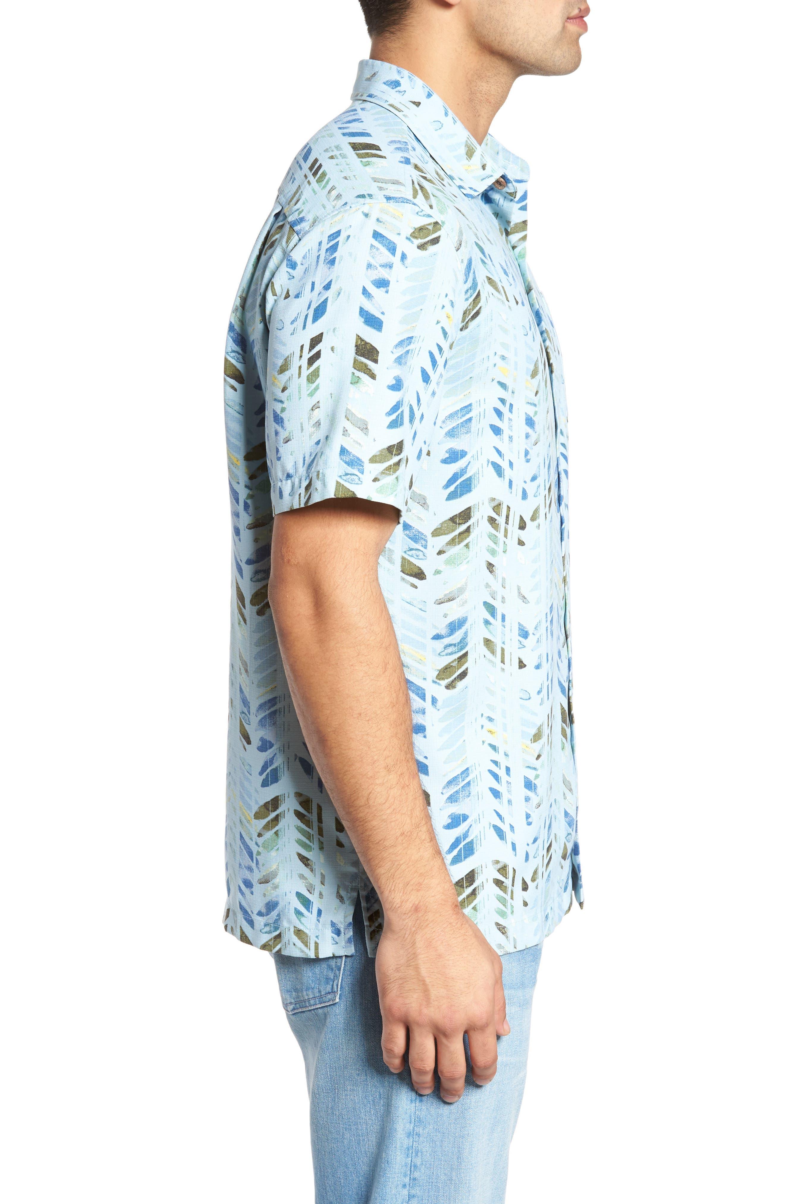 Alternate Image 3  - Tommy Bahama Right on Tide Silk Blend Camp Shirt