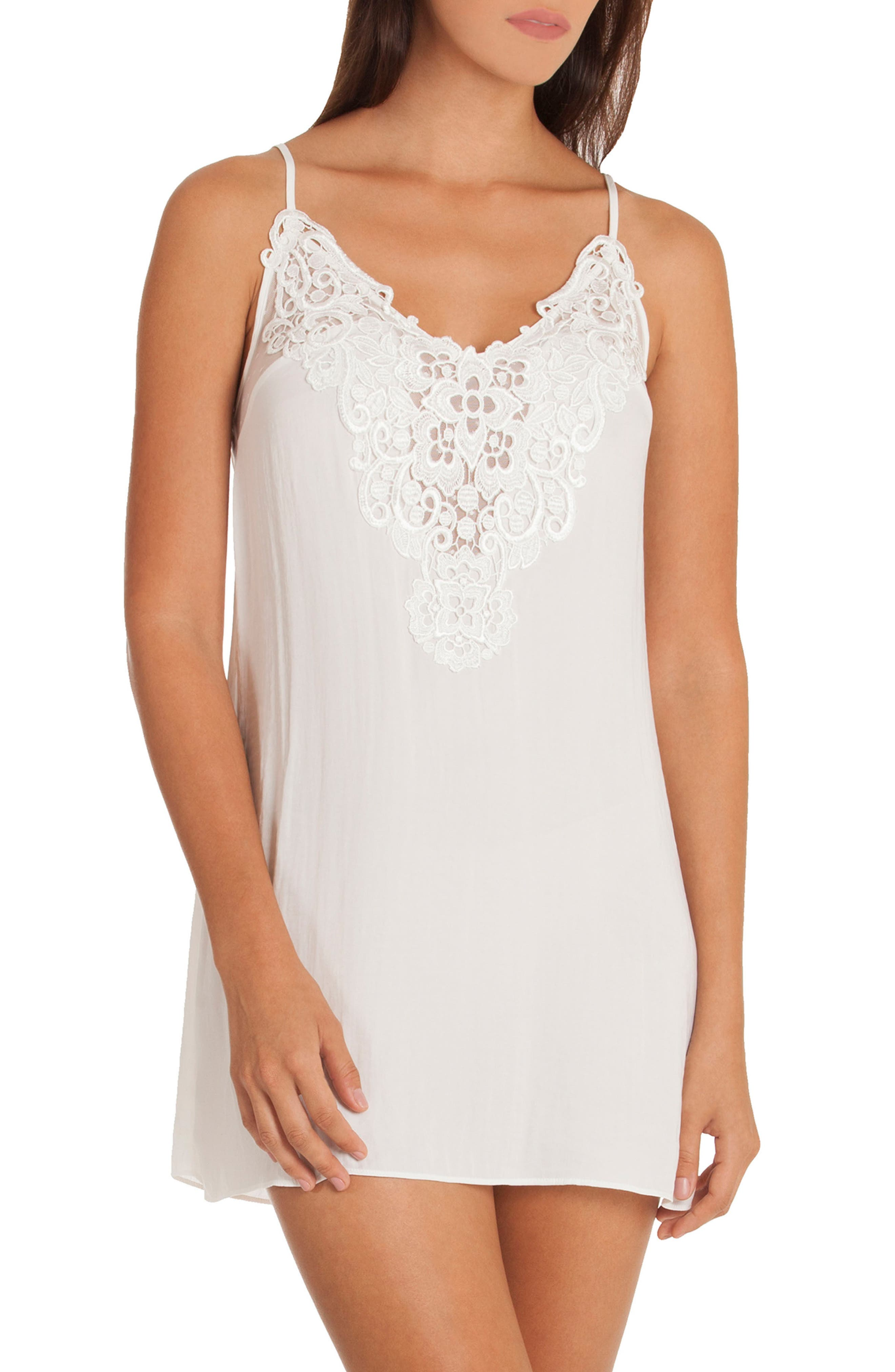 Byzantine Washed Satin Chemise,                             Main thumbnail 1, color,                             Ivory