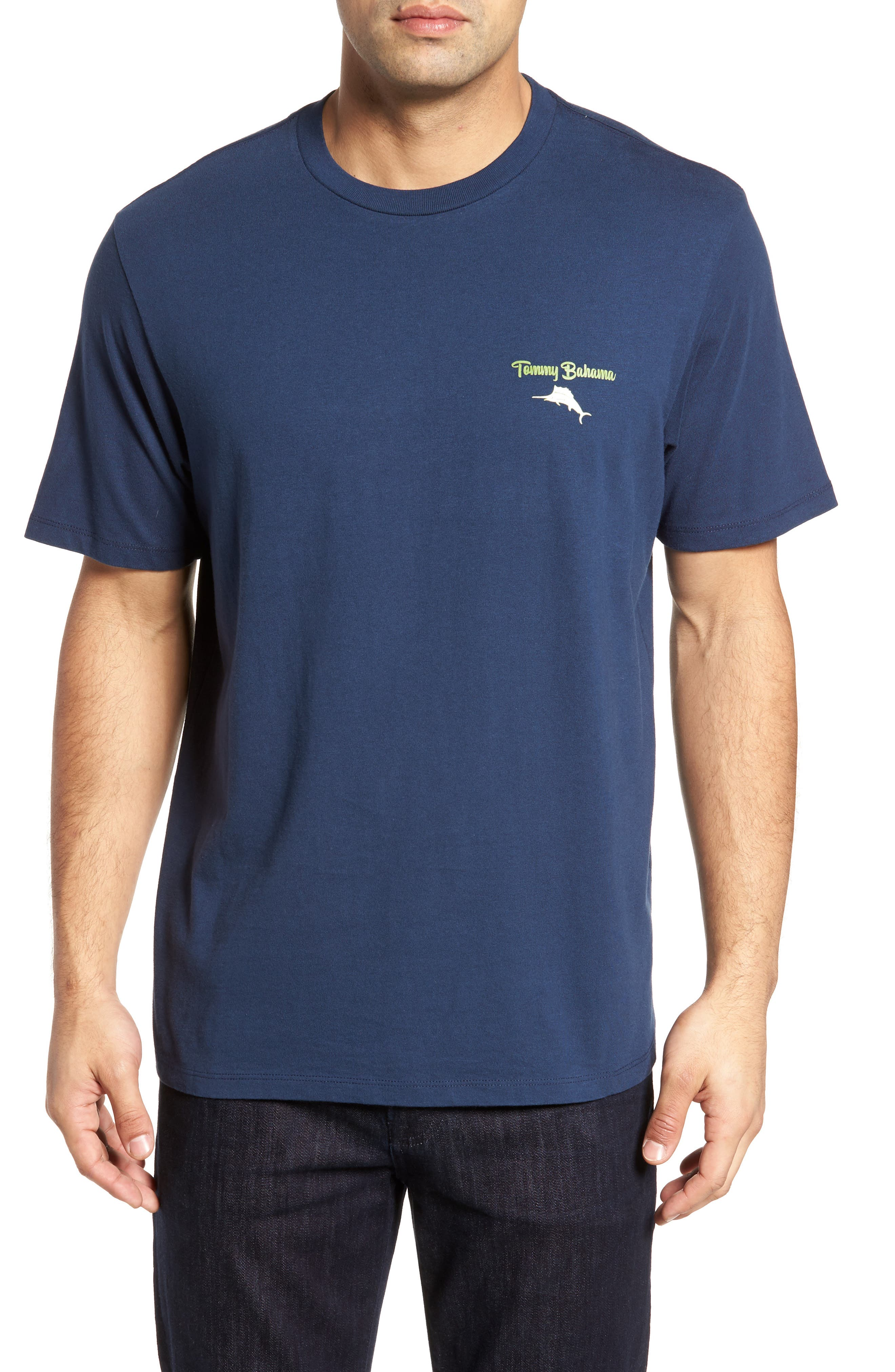Fore of a Kind Graphic T-Shirt,                         Main,                         color, Navy