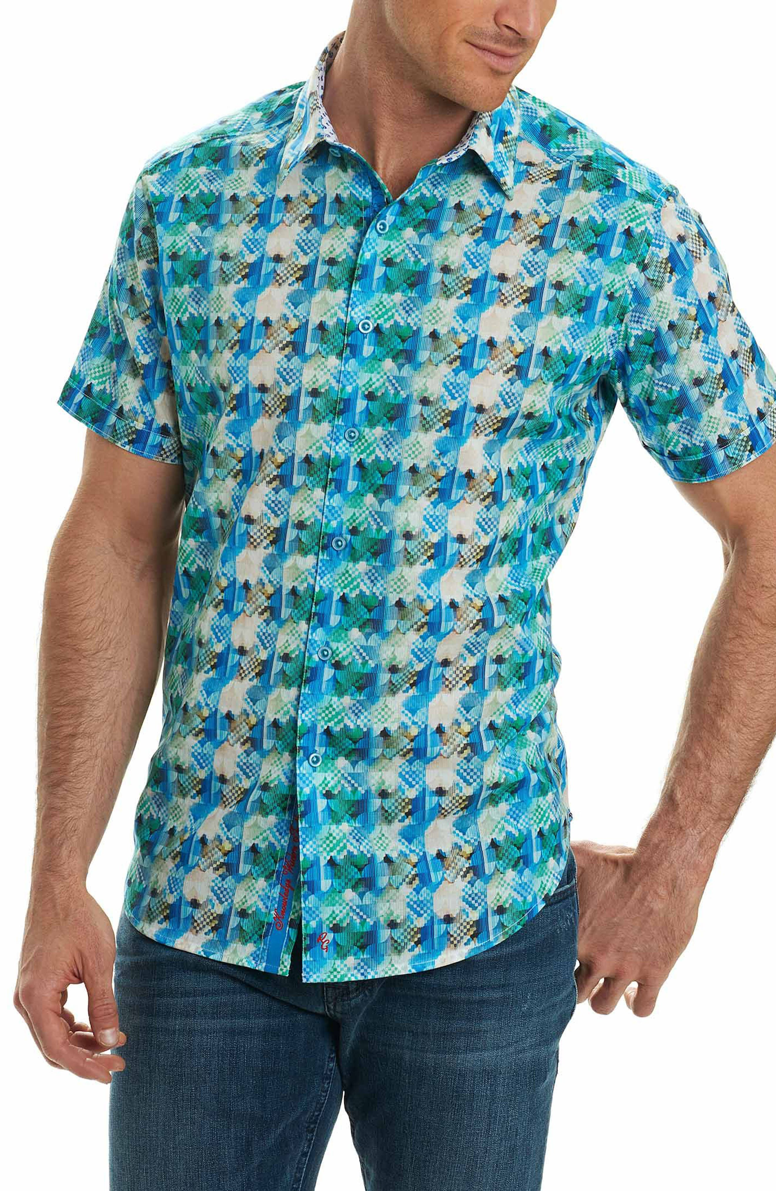Illusions Sport Shirt,                         Main,                         color, Turquoise