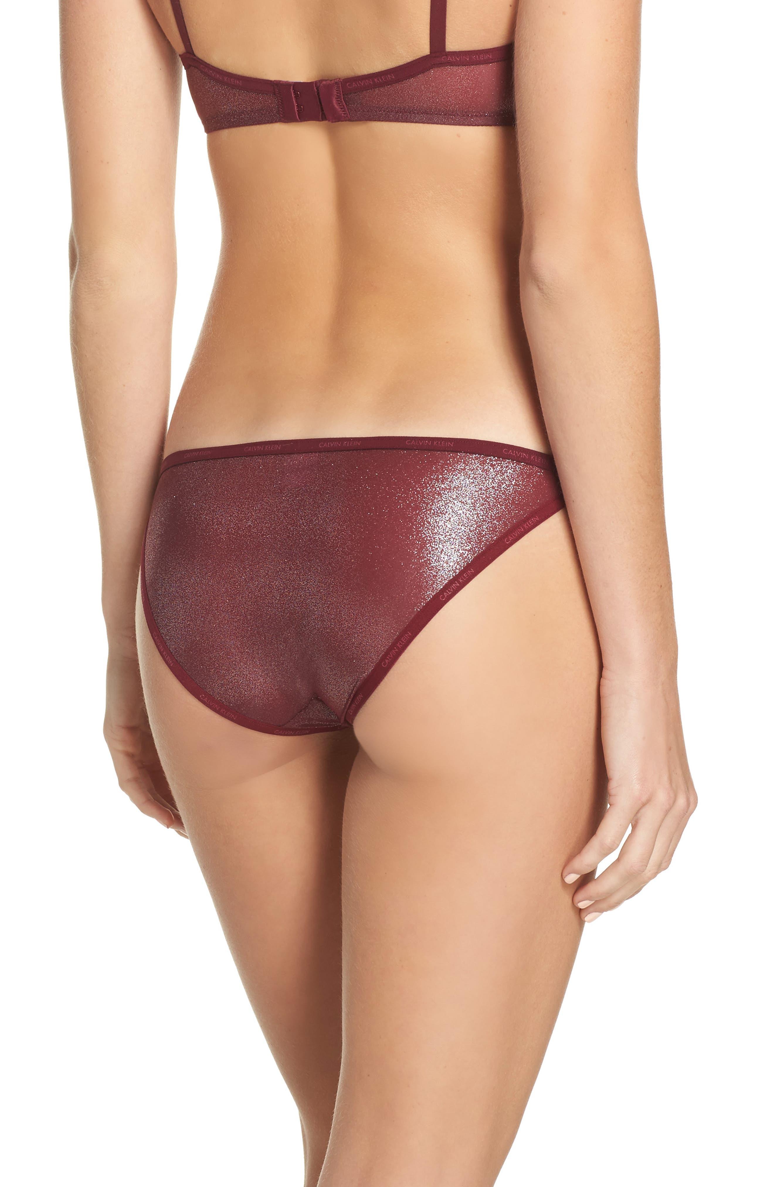 ID Sheer Marquisette String Bikini,                             Alternate thumbnail 2, color,                             Brazen W. Silver Foil