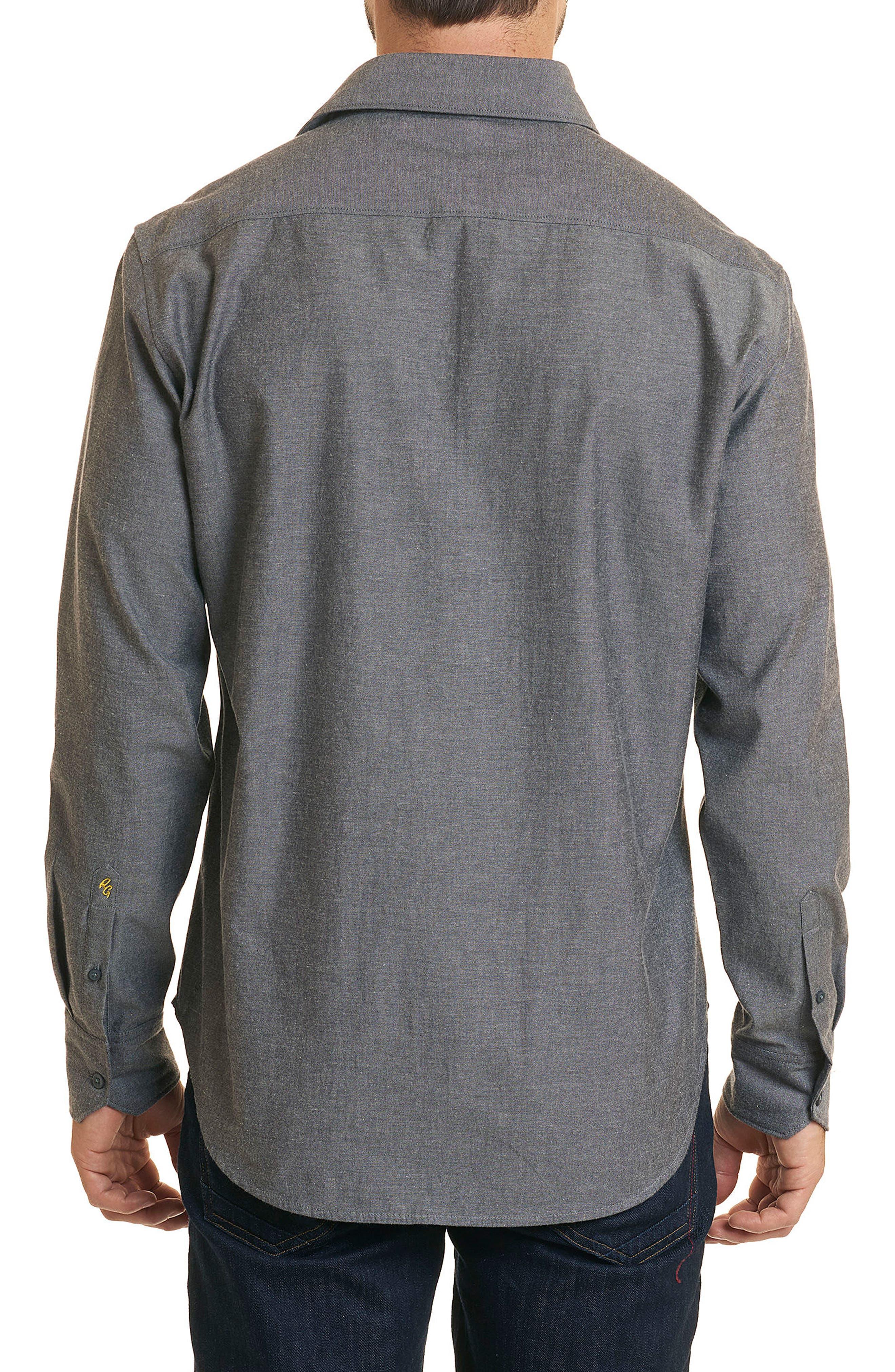 Maestre Classic Fit Sport Shirt,                             Alternate thumbnail 3, color,                             Grey