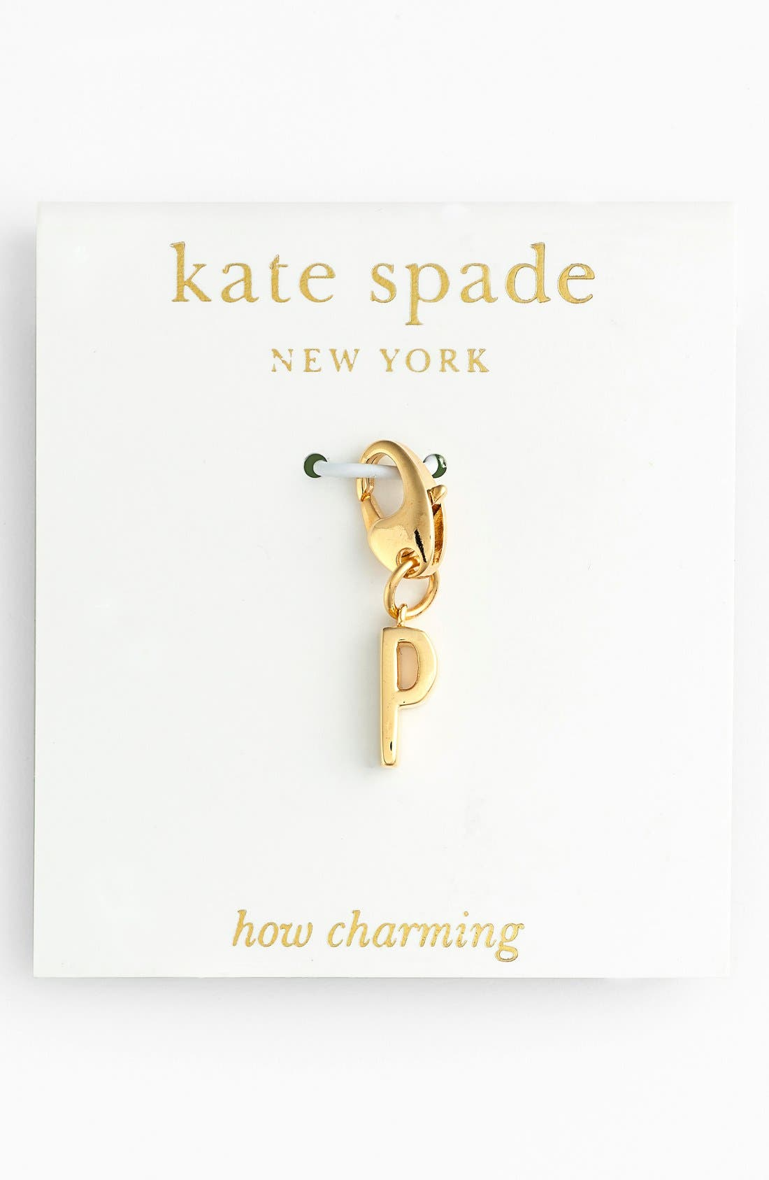 Alternate Image 1 Selected - kate spade new york 'how charming' initial charm