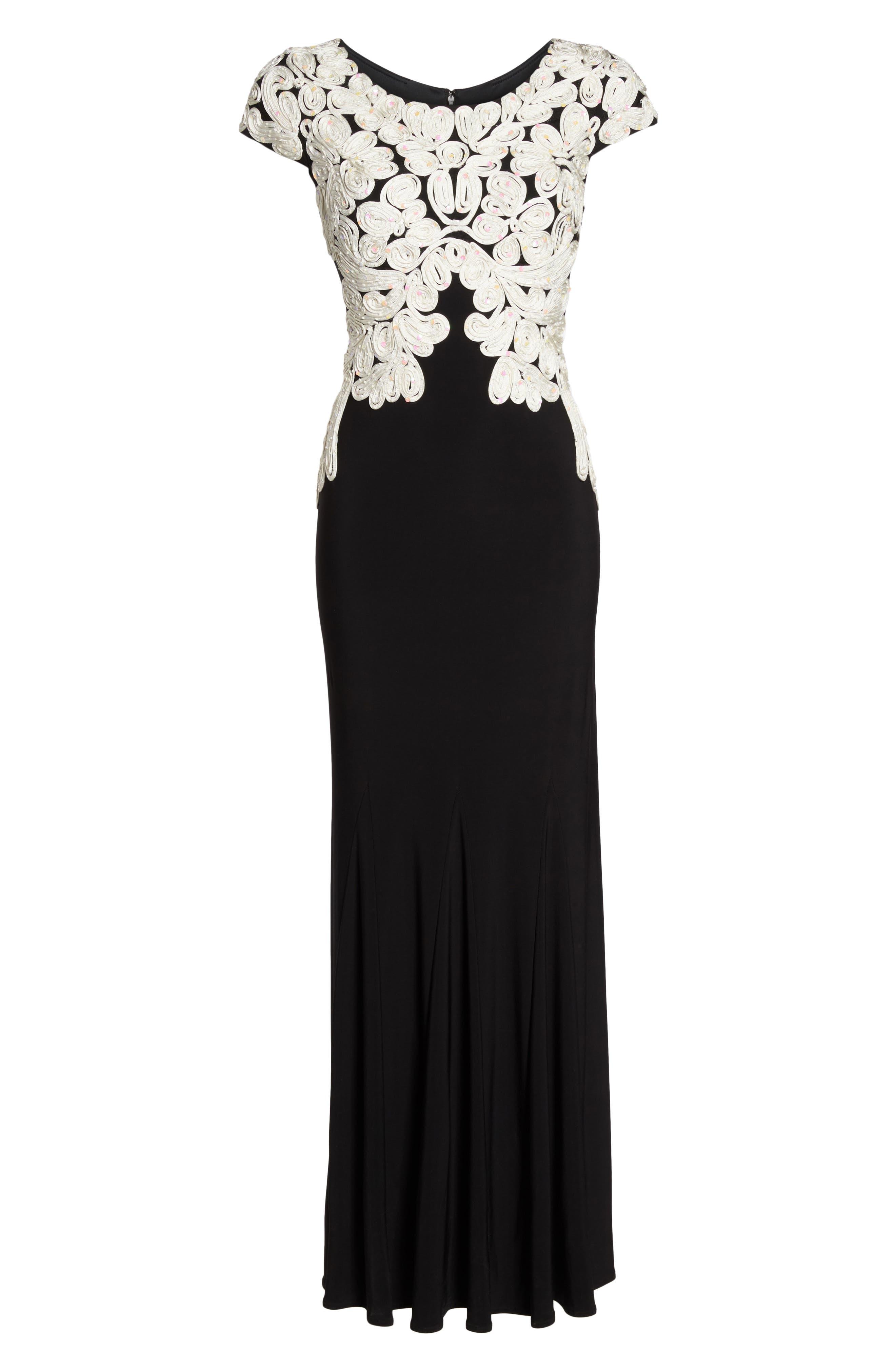 Alternate Image 6  - Alex Evenings Soutache Bodice Gown