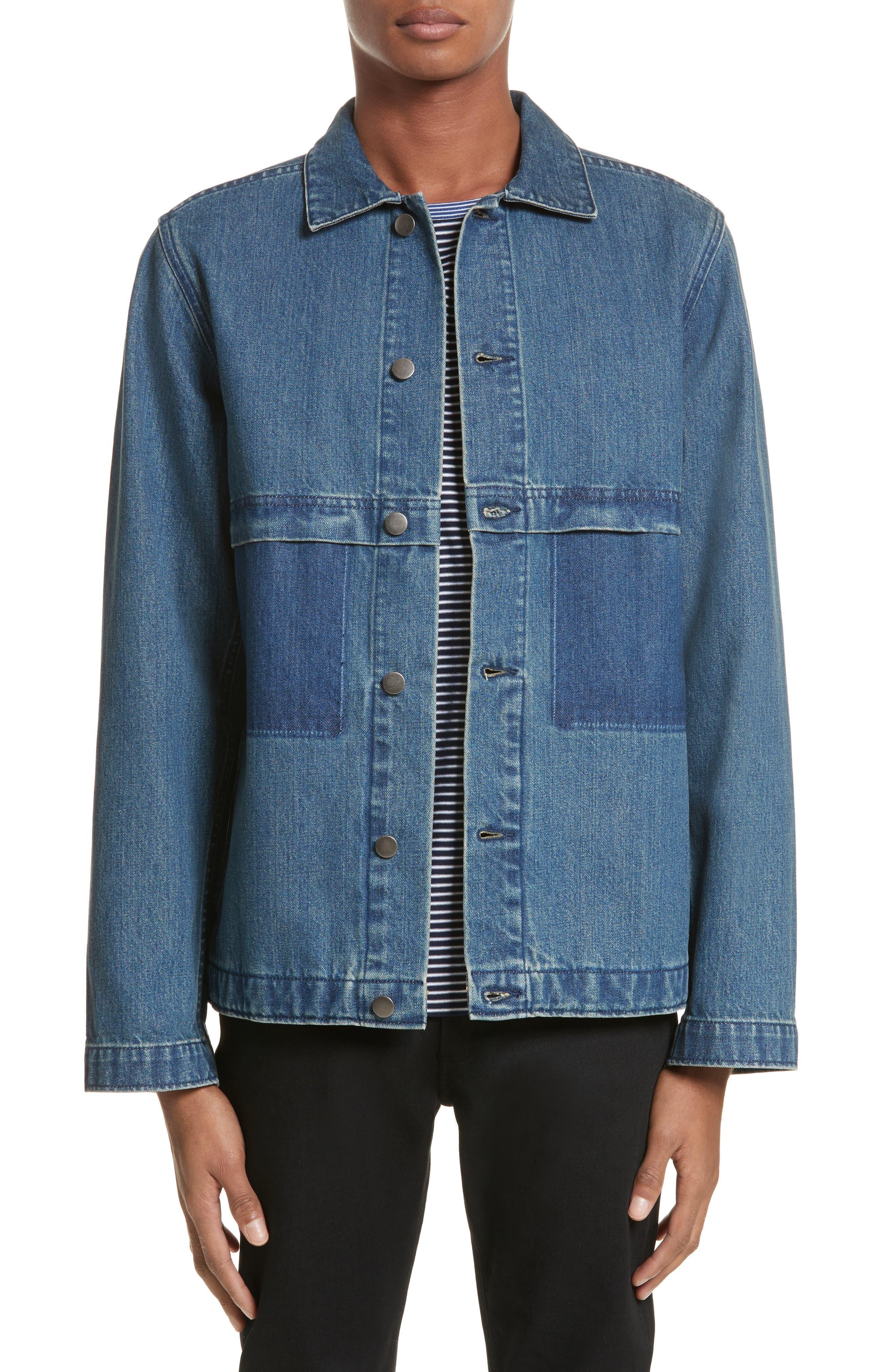 Smith Denim Jacket,                             Main thumbnail 1, color,                             Indigo Delave Ial