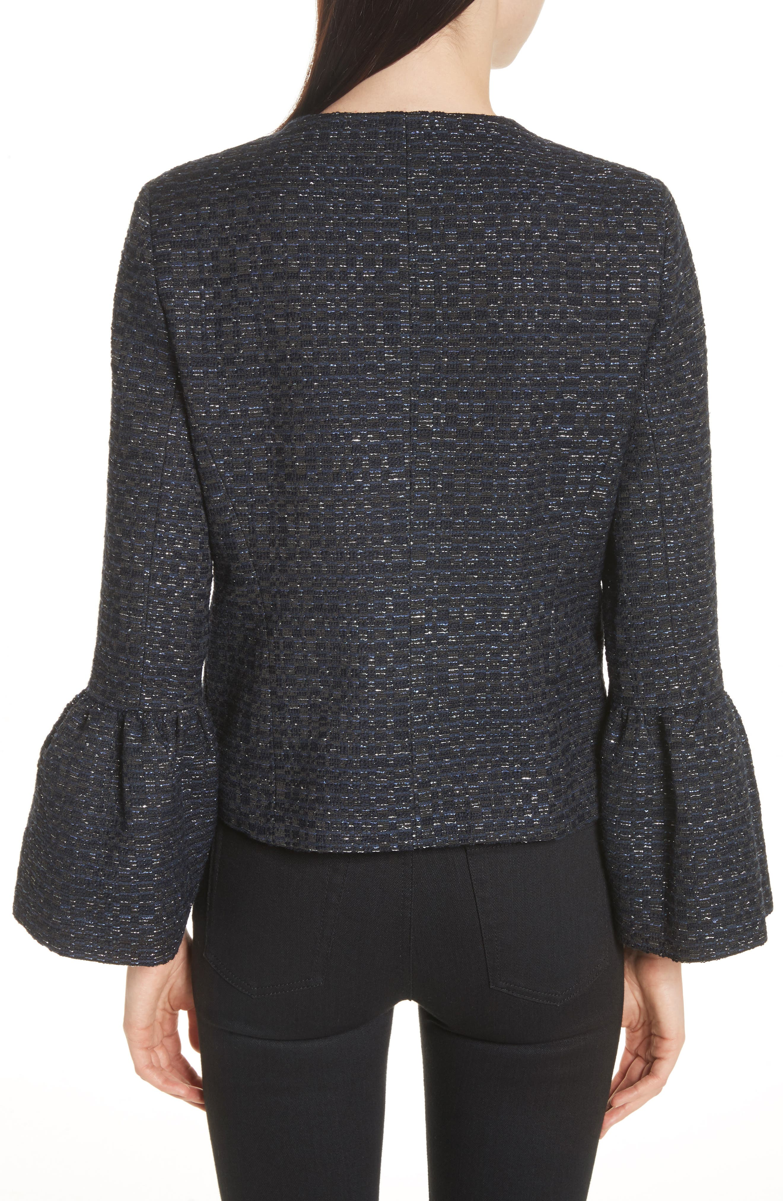 Alternate Image 2  - Helene Berman Zoe Bell Cuff Tweed Jacket