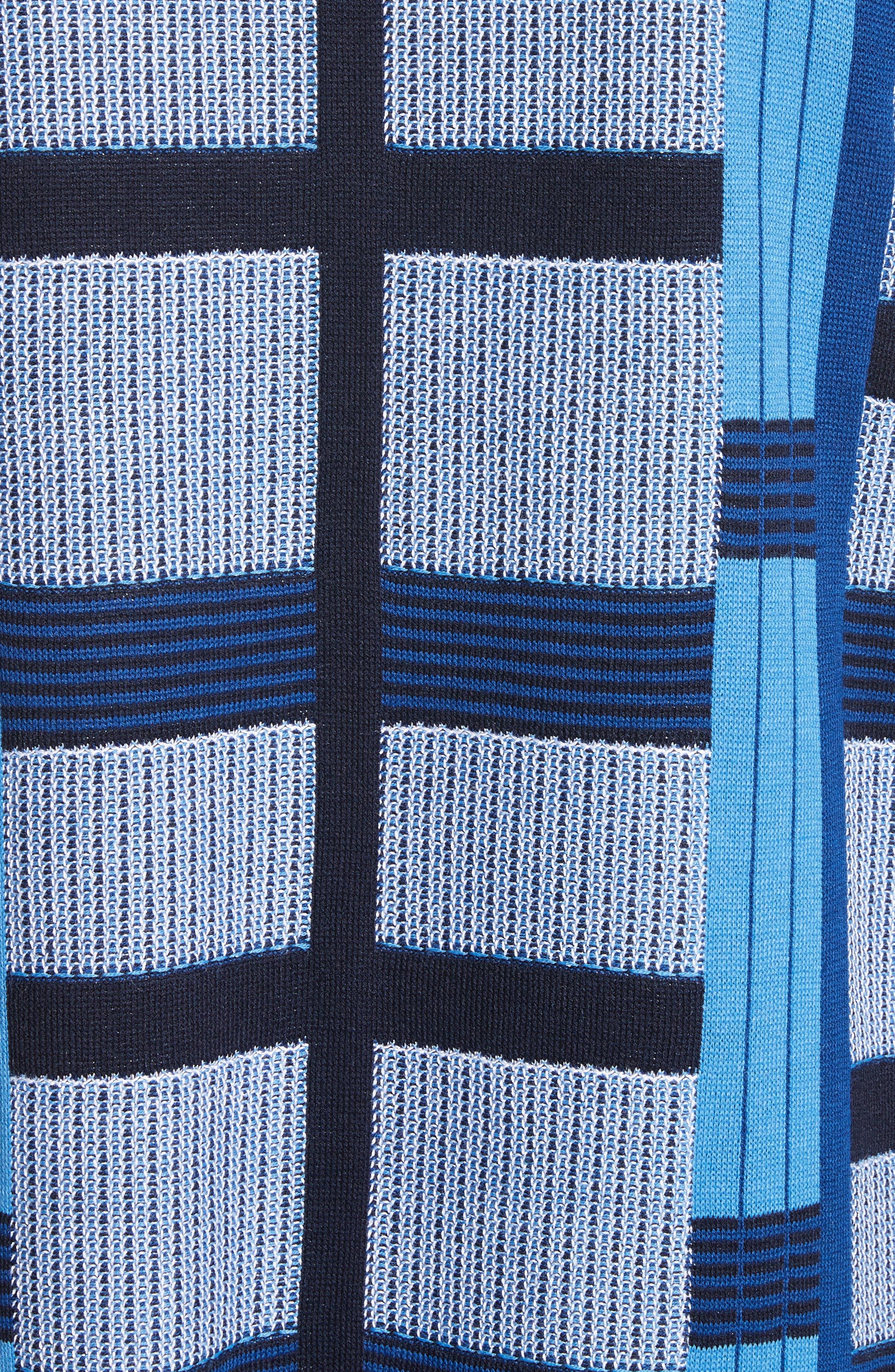 Colorblock Knit Jacket,                             Alternate thumbnail 5, color,                             Niagara Multi