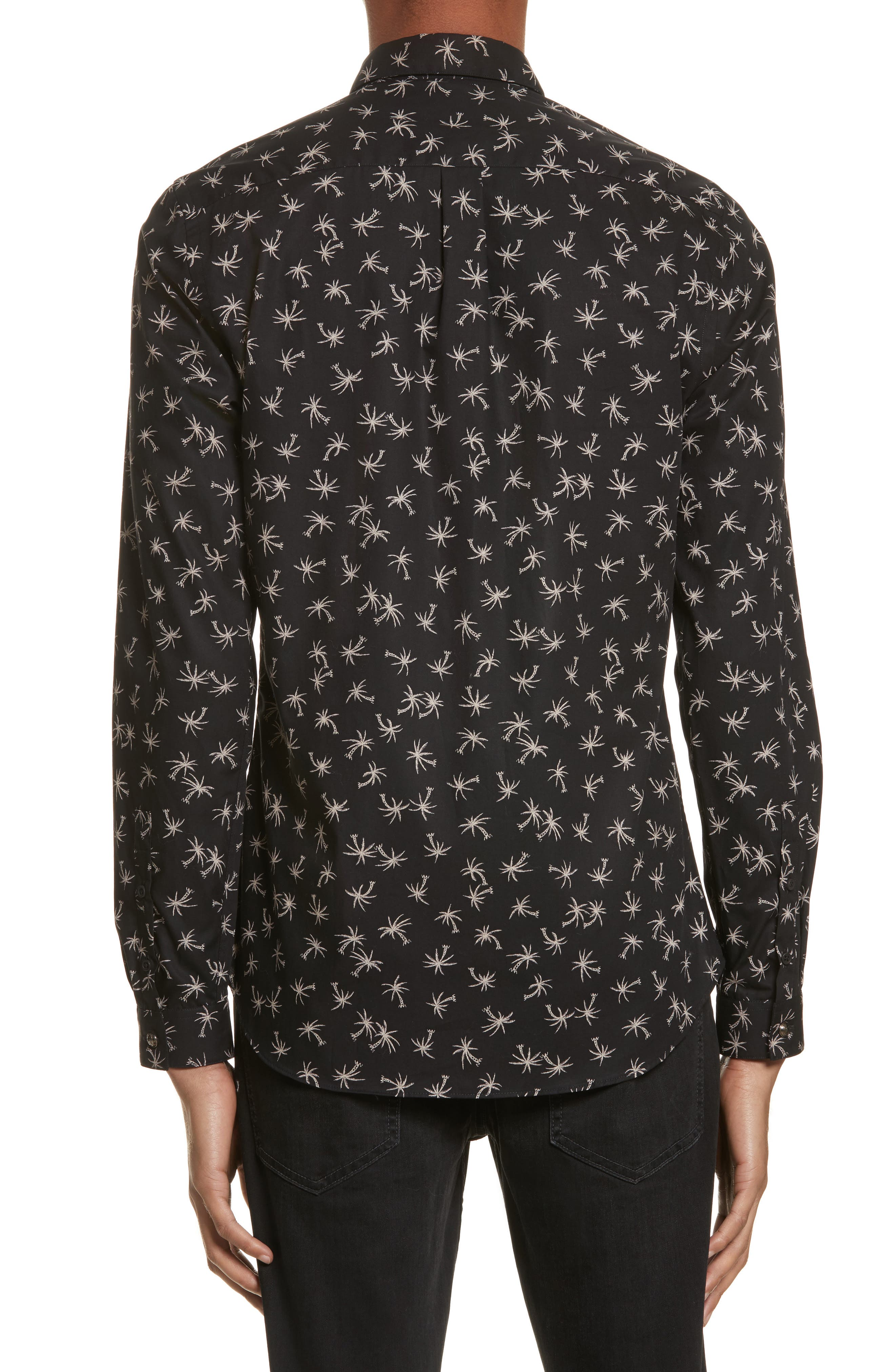 Alternate Image 2  - The Kooples Palm Tree Print Woven Shirt
