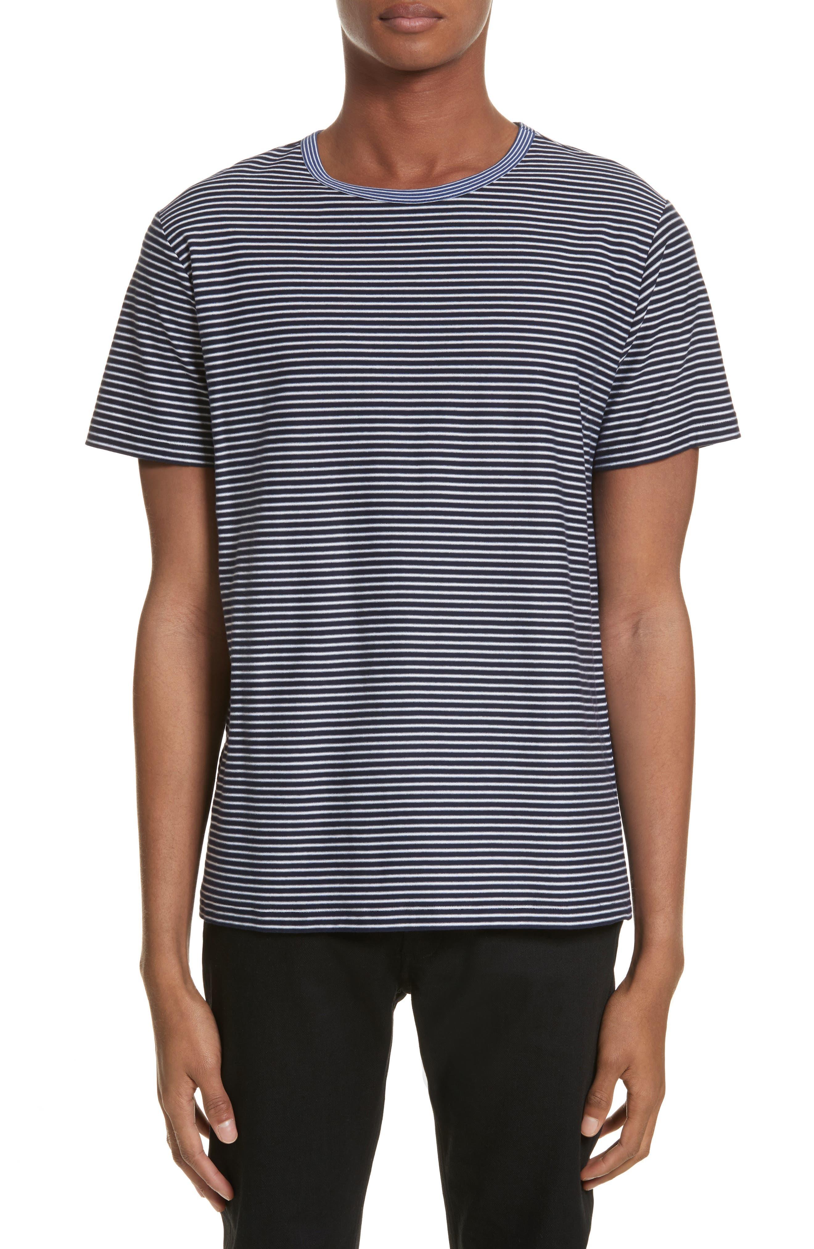 Maui Stripe T-Shirt,                         Main,                         color, Dark Navy Iak