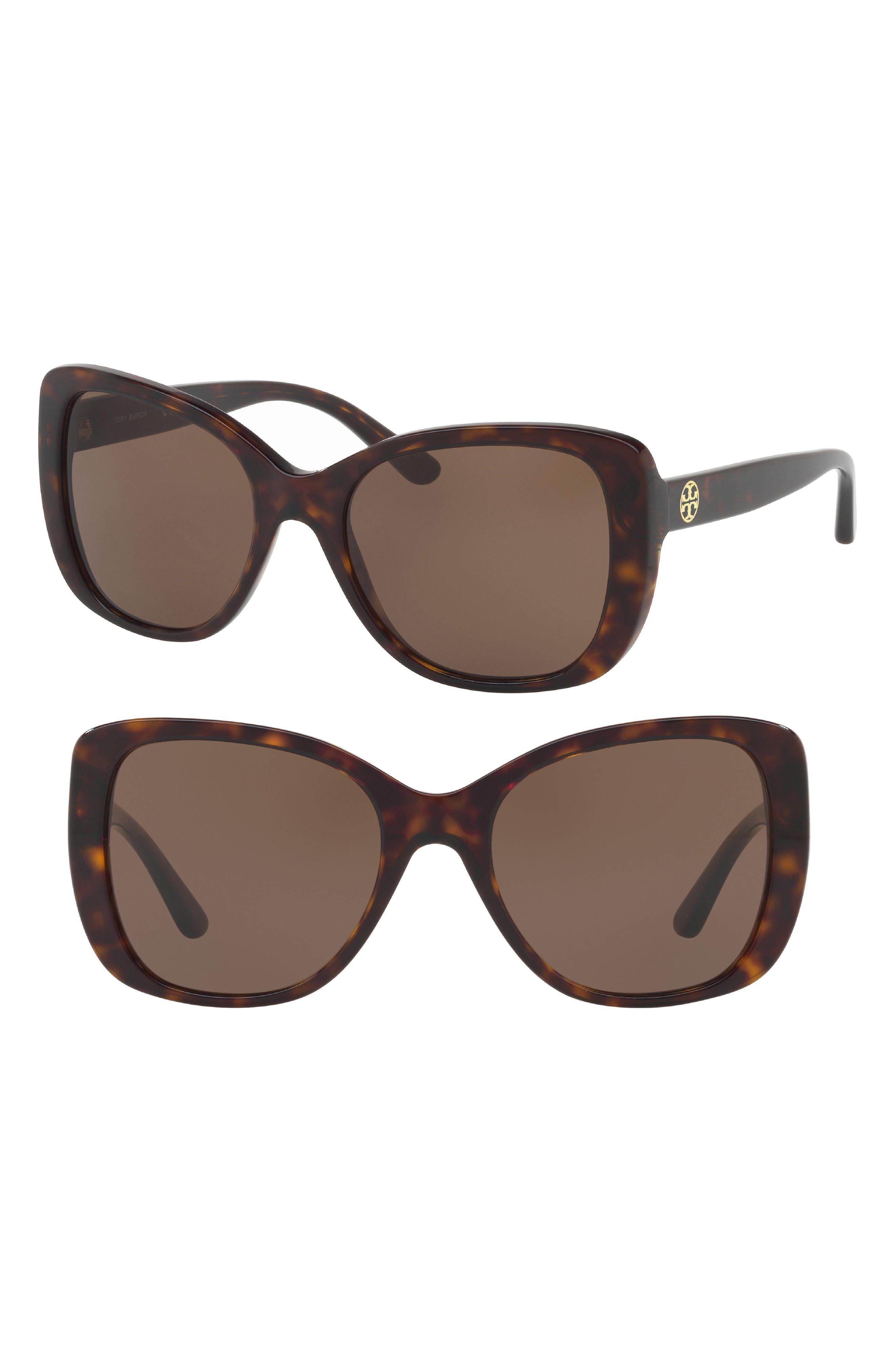 Tory Burch 53mm Rectangle Sunglasses