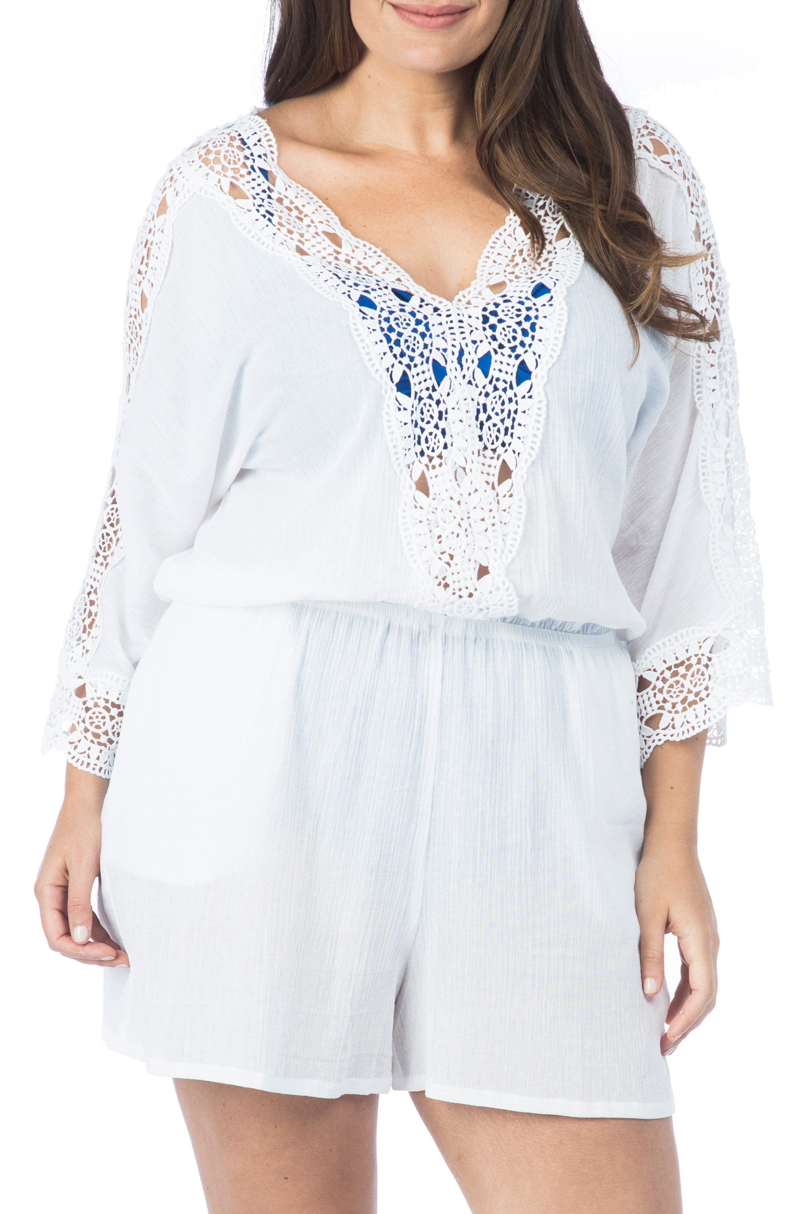 Island Fare Romper,                         Main,                         color, White