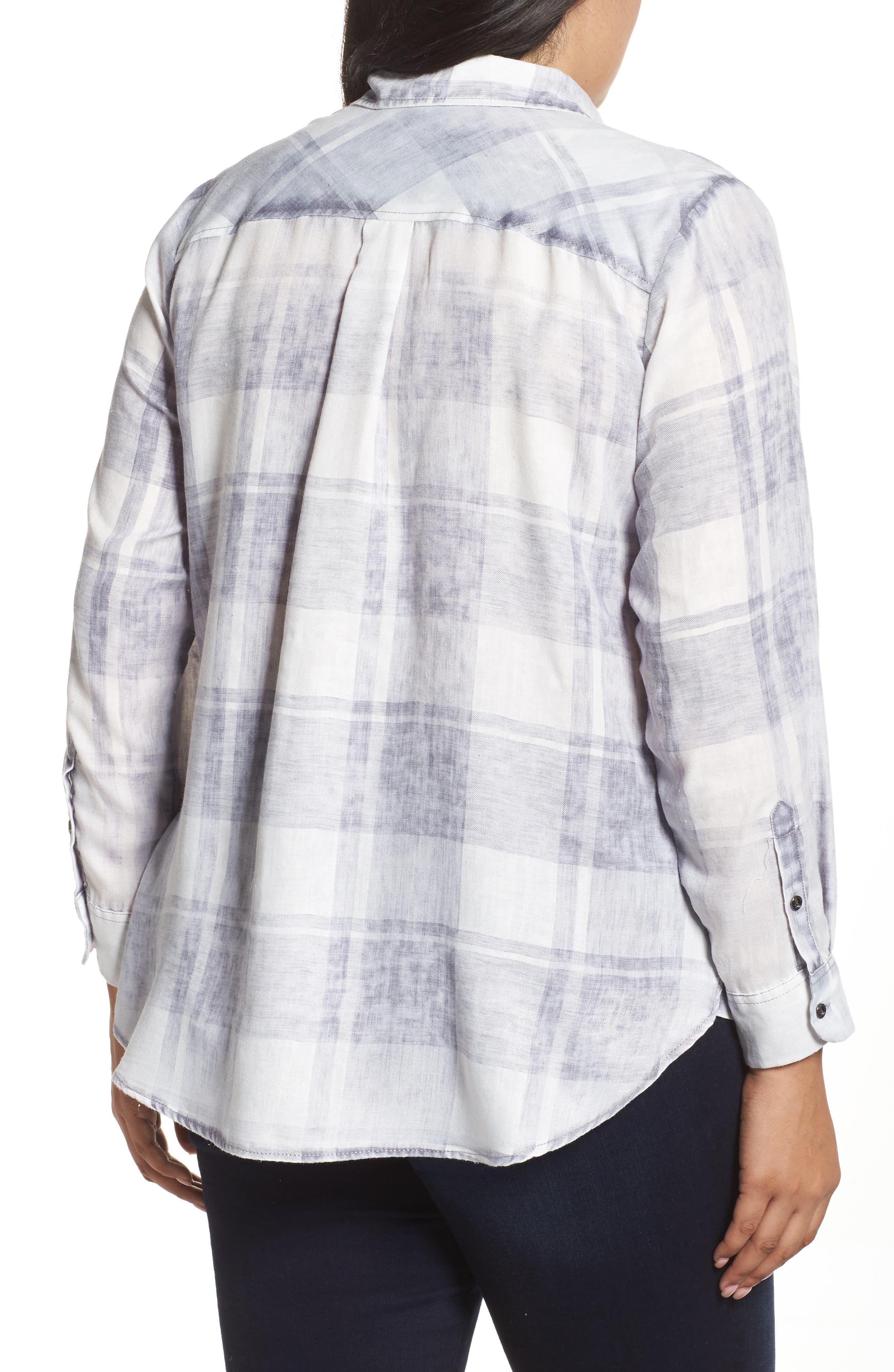 Alternate Image 2  - Two by Vince Camuto Quaint Plaid Button Down Shirt (Plus Size)
