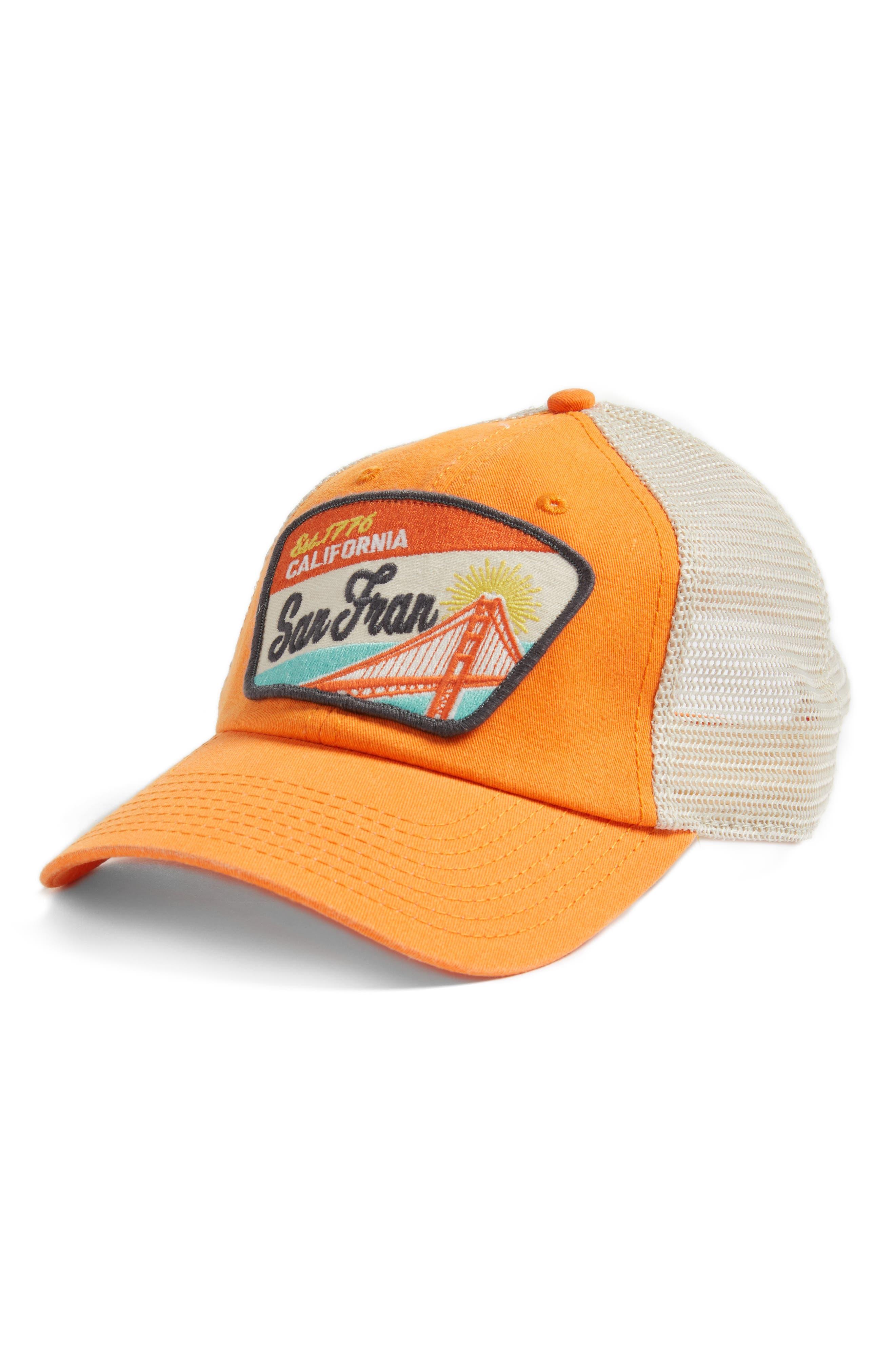 Ravenswood - Destination San Francisco Hat,                             Main thumbnail 1, color,                             Ivory/ Orange