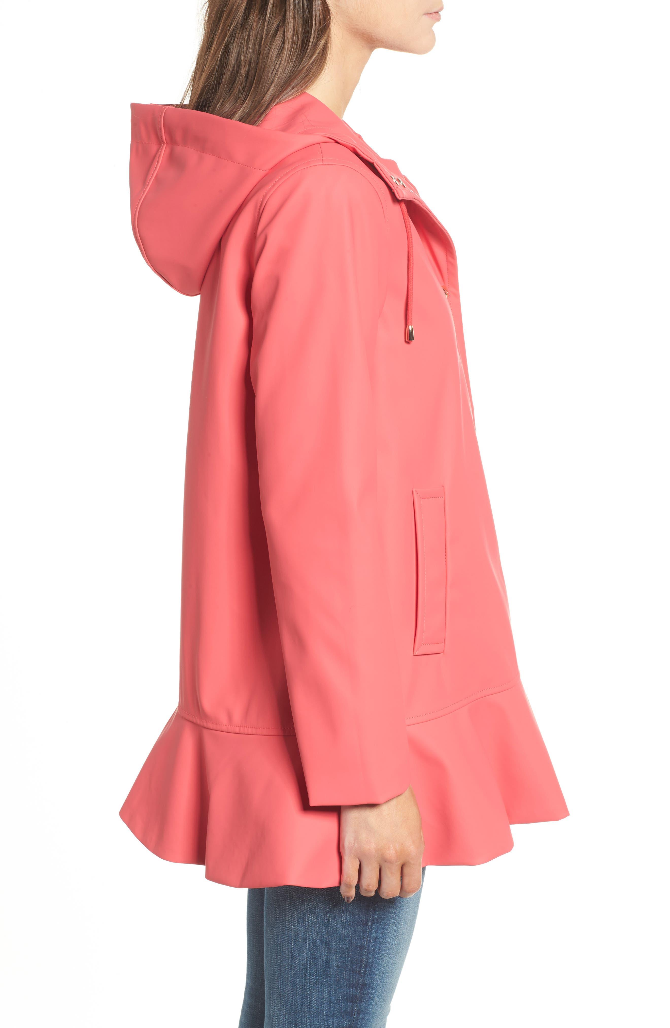 Alternate Image 3  - kate spade new york hooded peplum rain coat