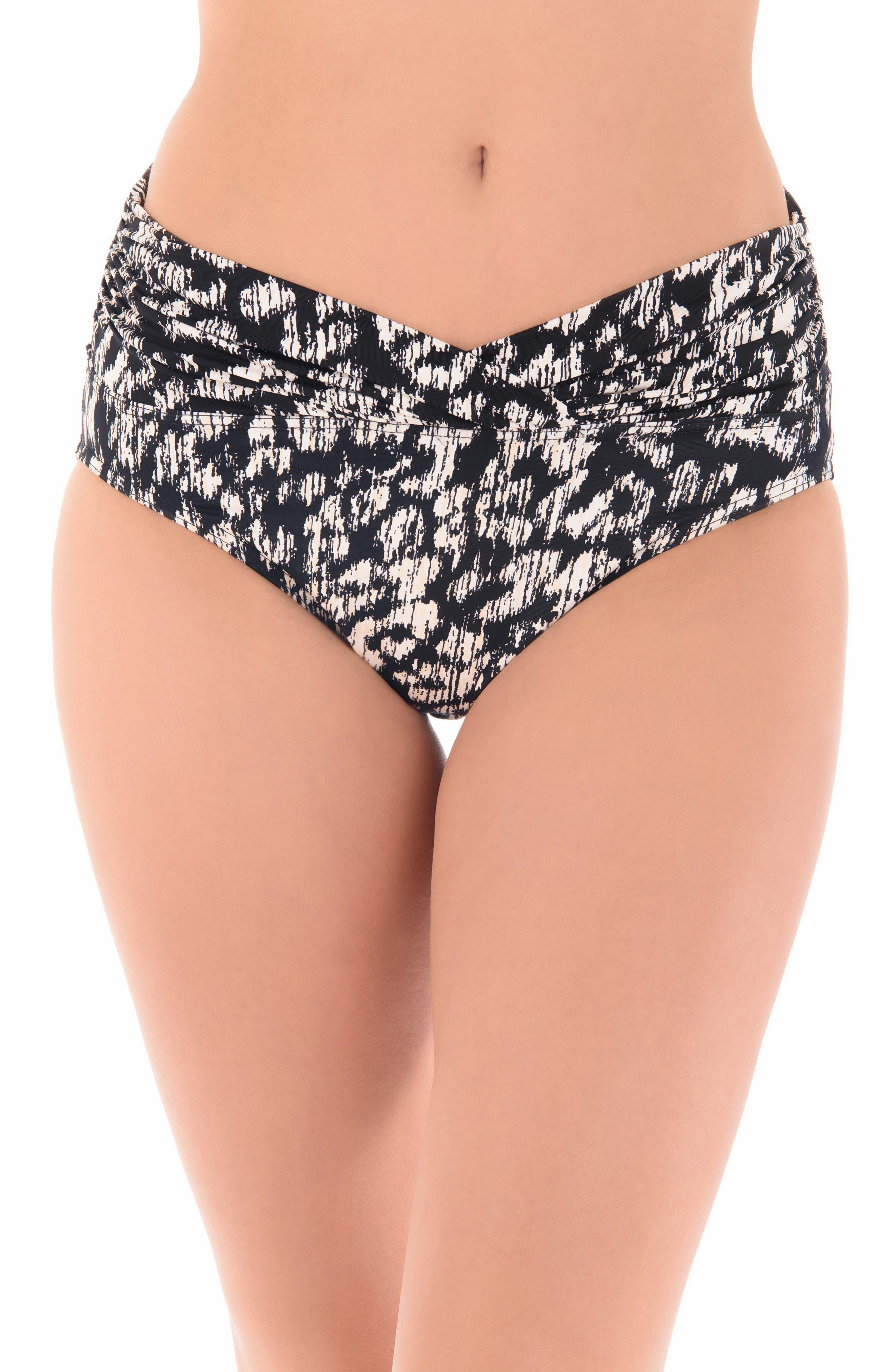 Miraclesuit Cat Walk Bikini Bottoms,                         Main,                         color, Black