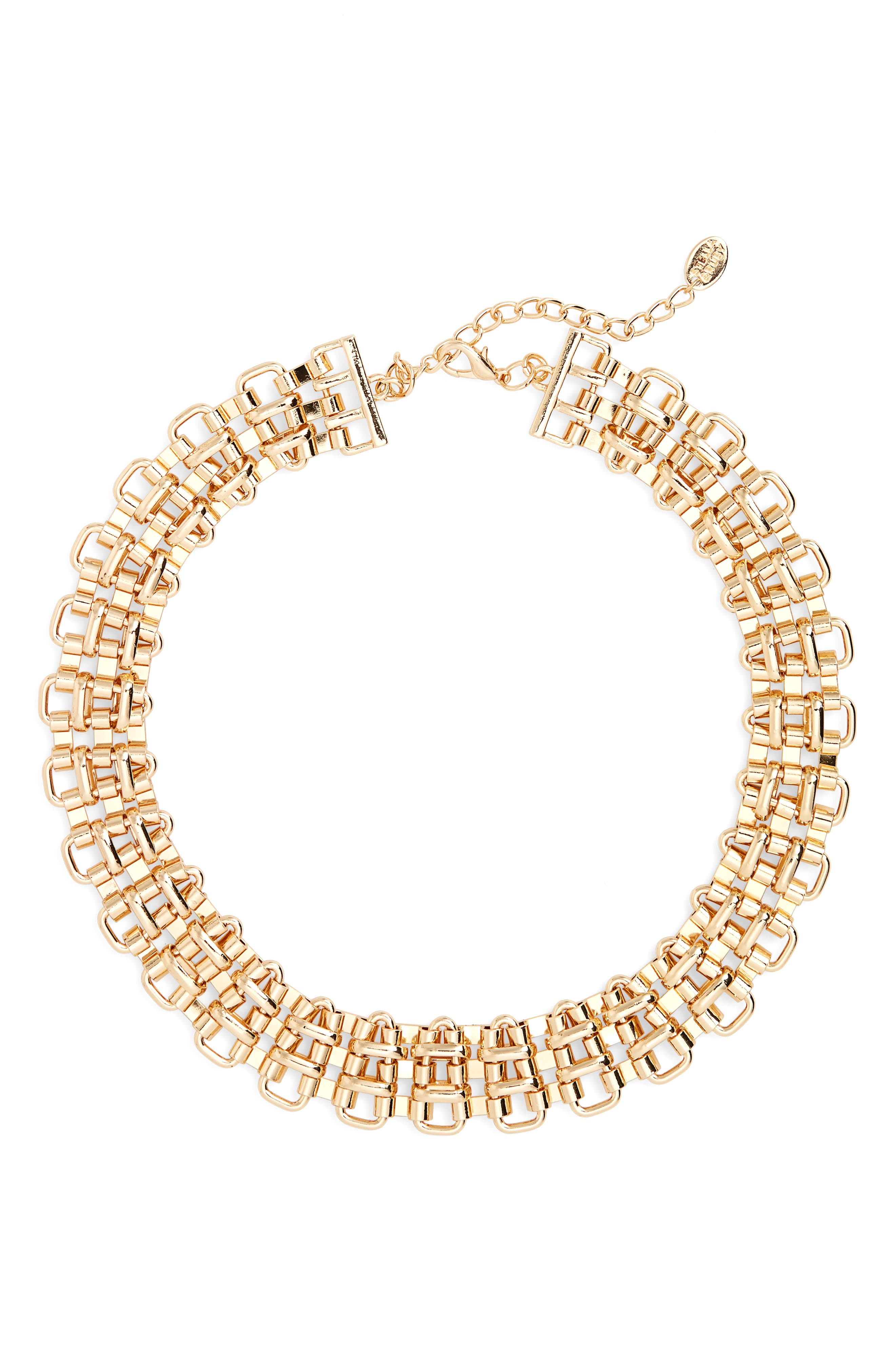Chain Link Statement Necklace,                         Main,                         color, Gold