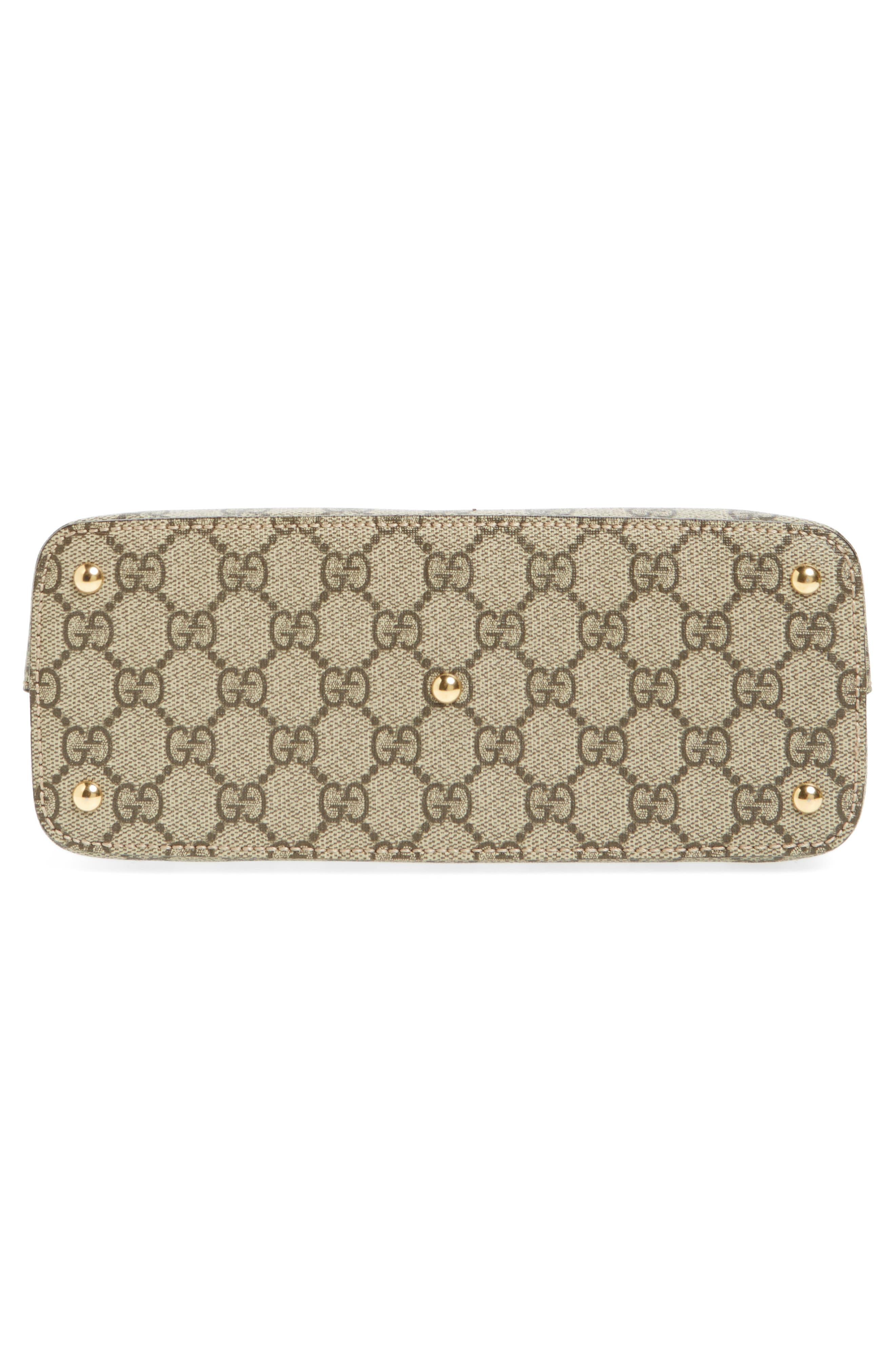 Alternate Image 6  - Gucci GG Mini Linea A Canvas & Leather Crossbody Tote