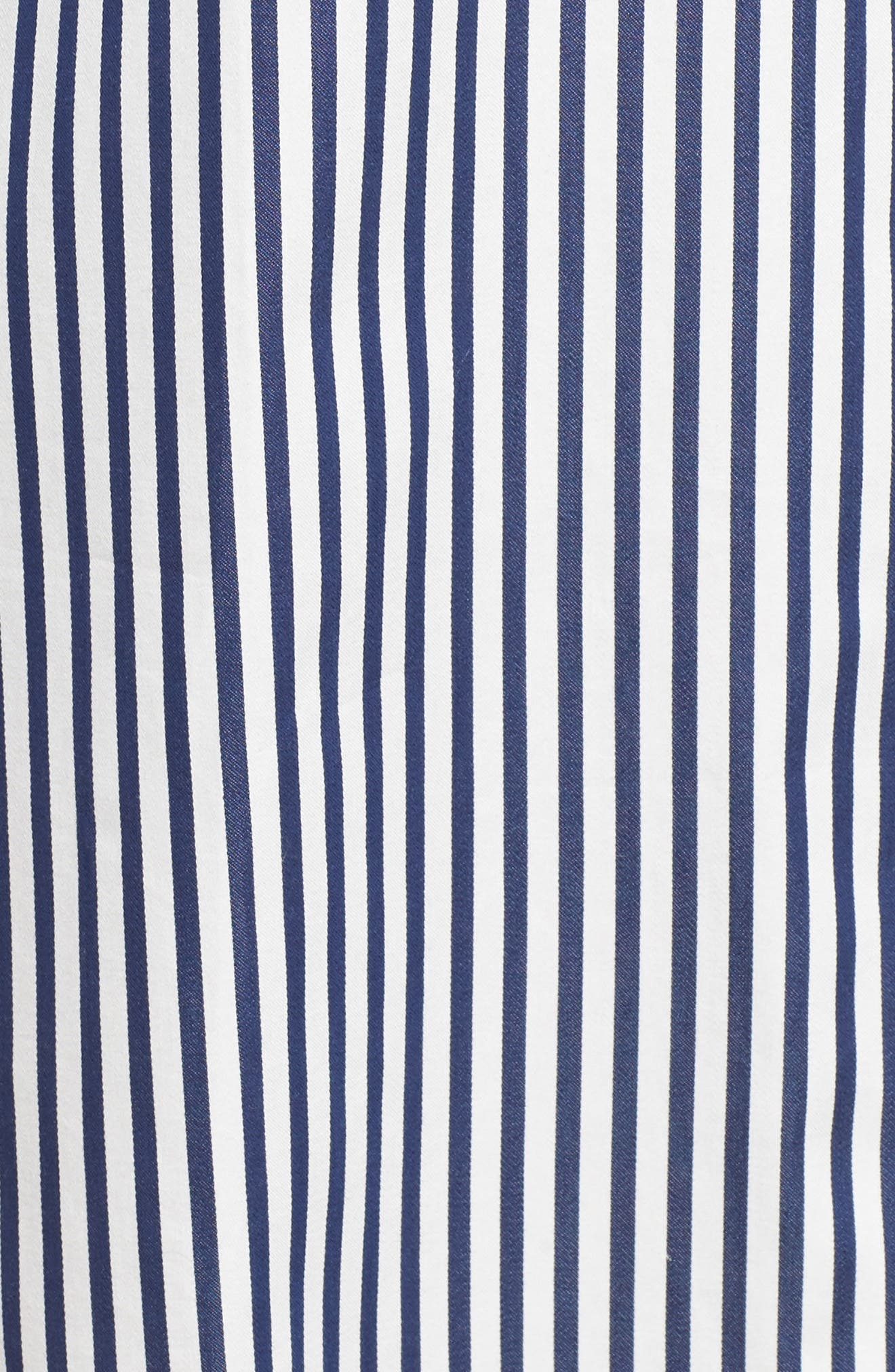 stripe sleep shirt,                             Alternate thumbnail 5, color,                             Navy Stripe