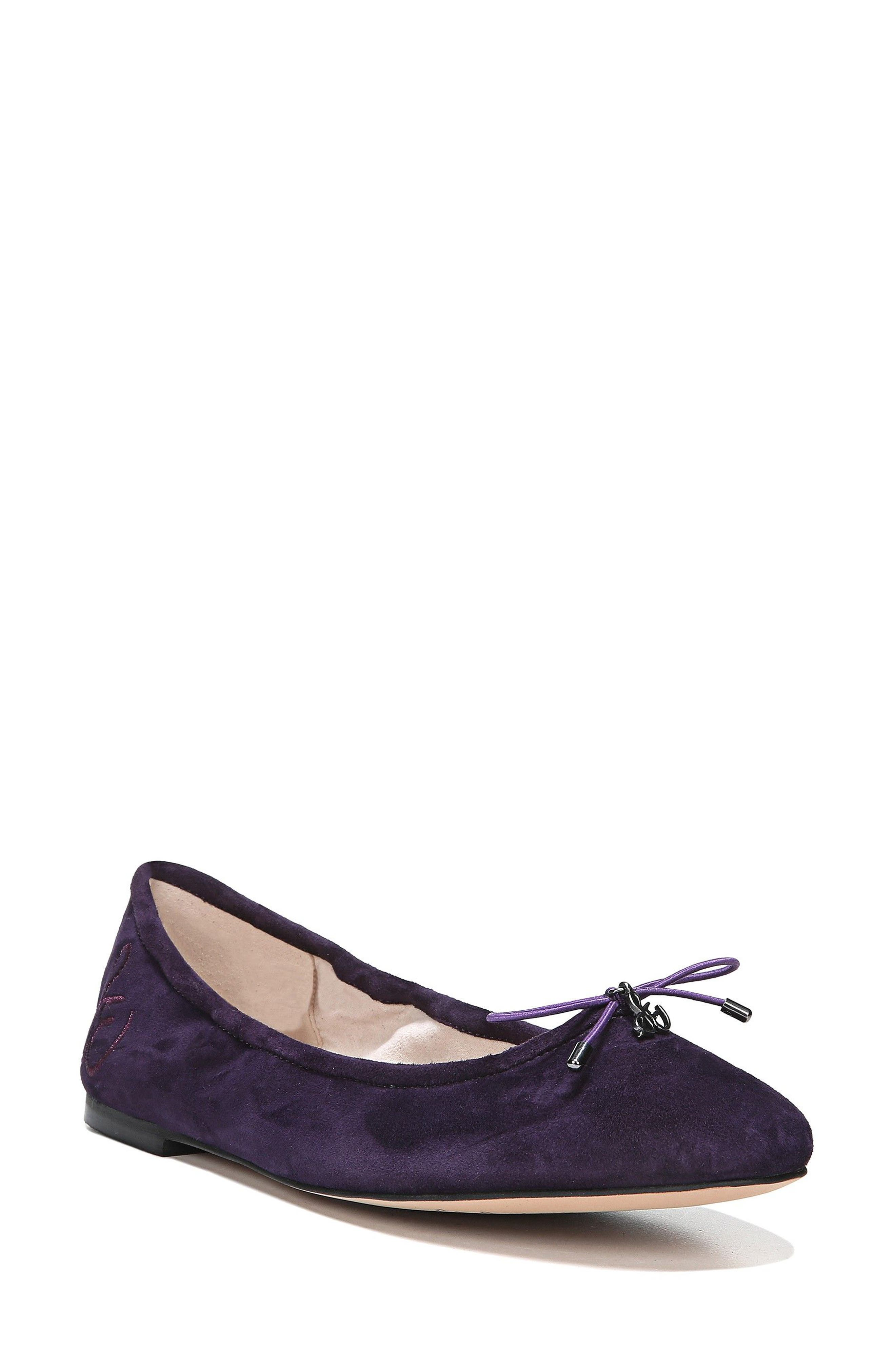 Felicia Flat,                         Main,                         color, Blackberry Suede
