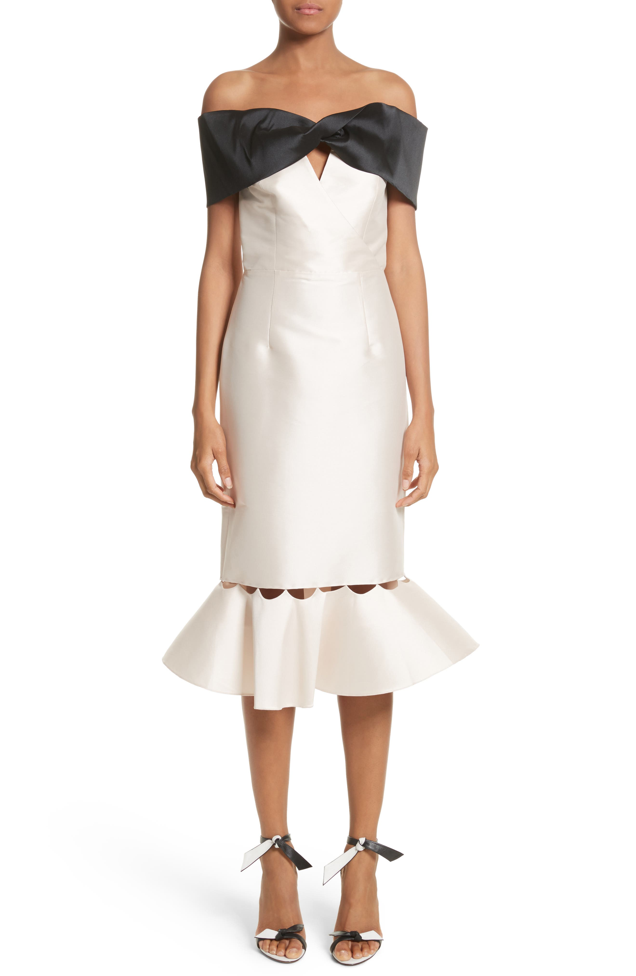 Main Image - Sachin & Babi Noir Asli Colorblock Off the Shoulder Sheath Dress