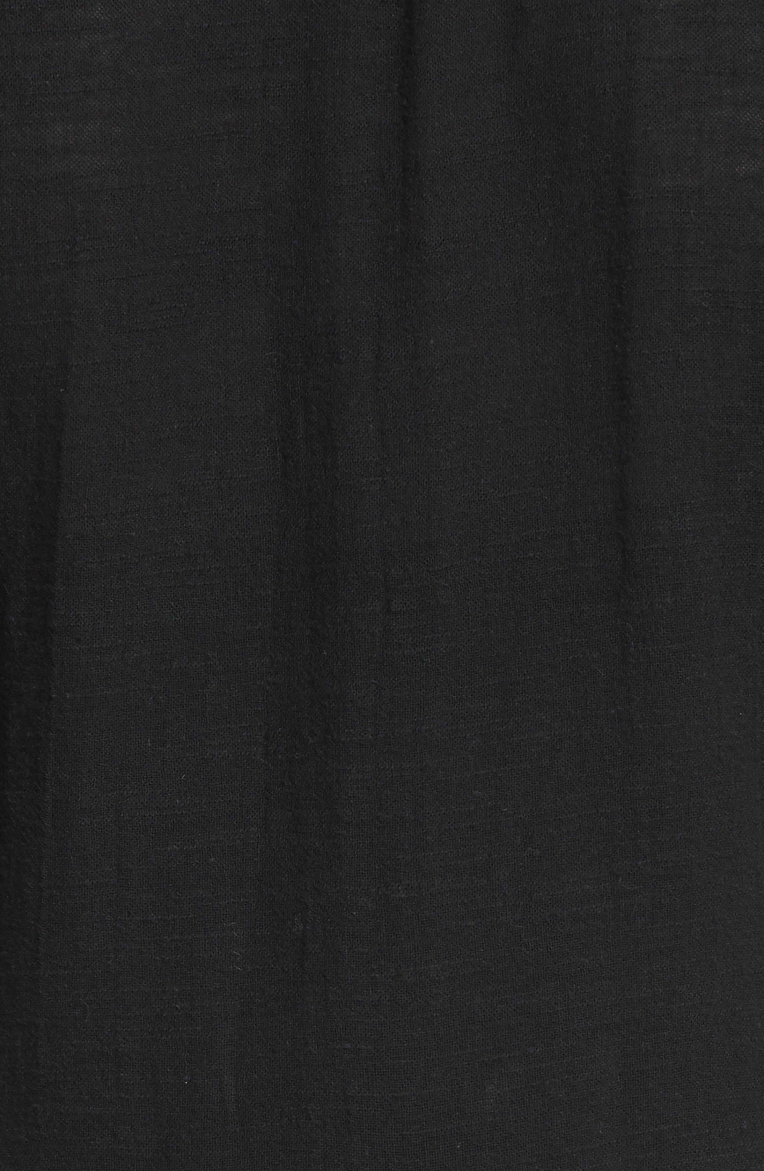 Santiago Embroidered Minidress,                             Alternate thumbnail 5, color,                             Black