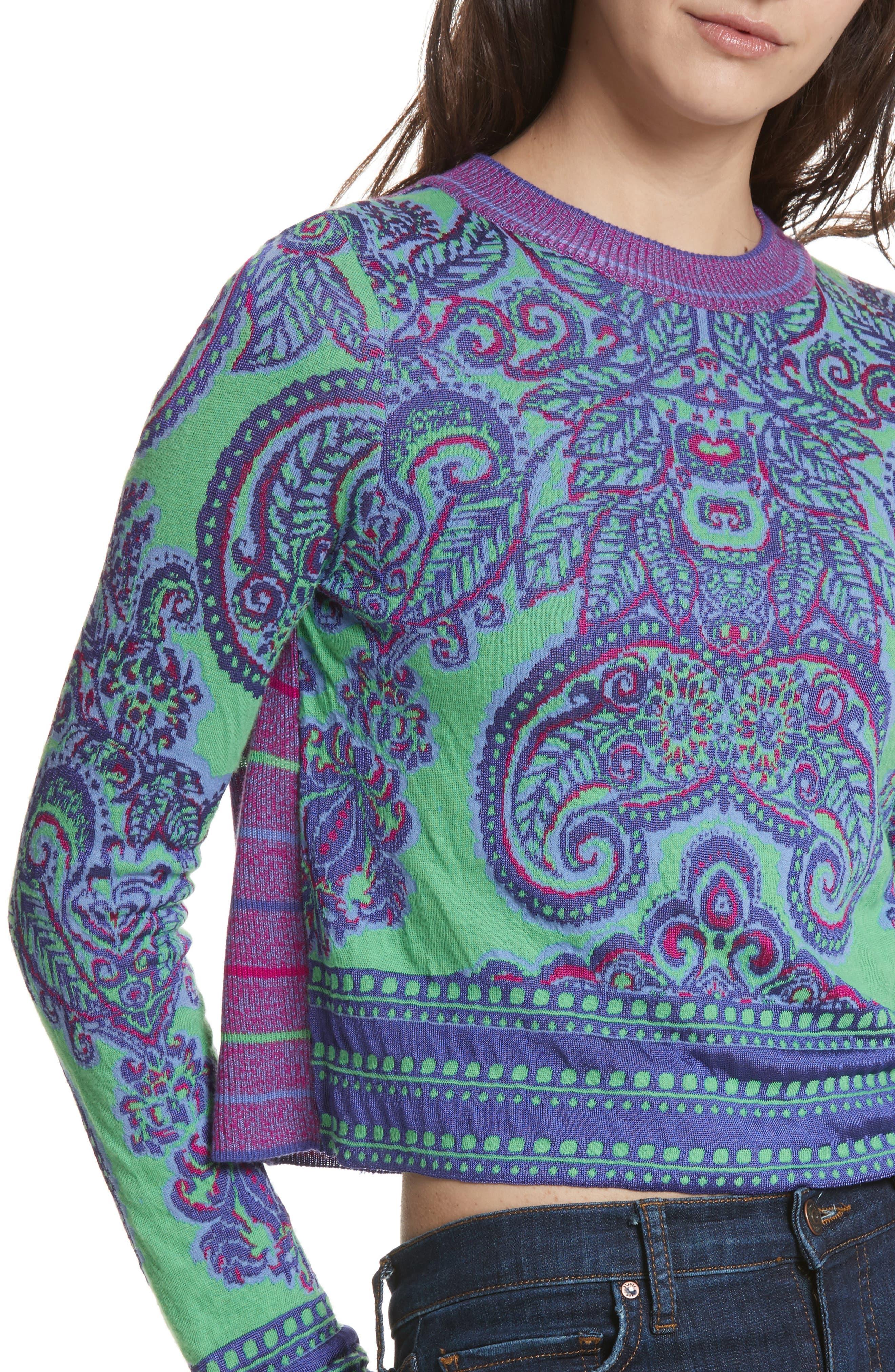 Alternate Image 4  - Free People New Age Crewneck Sweater