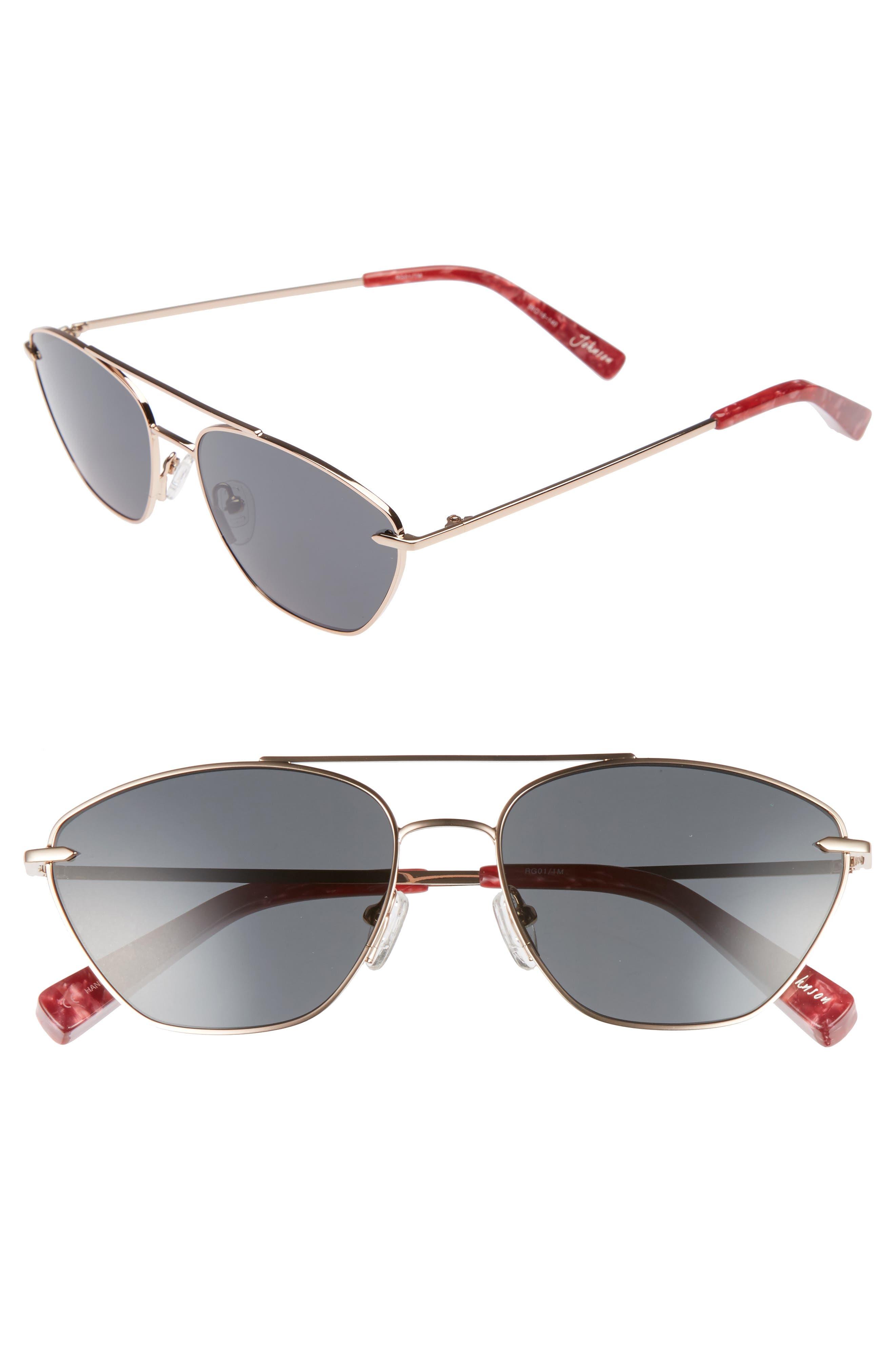 Johnson 56mm Navigator Sunglasses,                         Main,                         color, Rose Gold/ Smoke