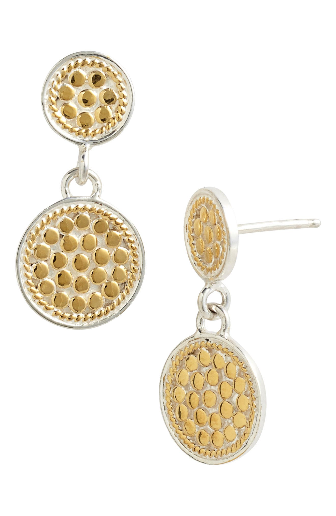 Gili Double Disc Earrings,                         Main,                         color, Gold