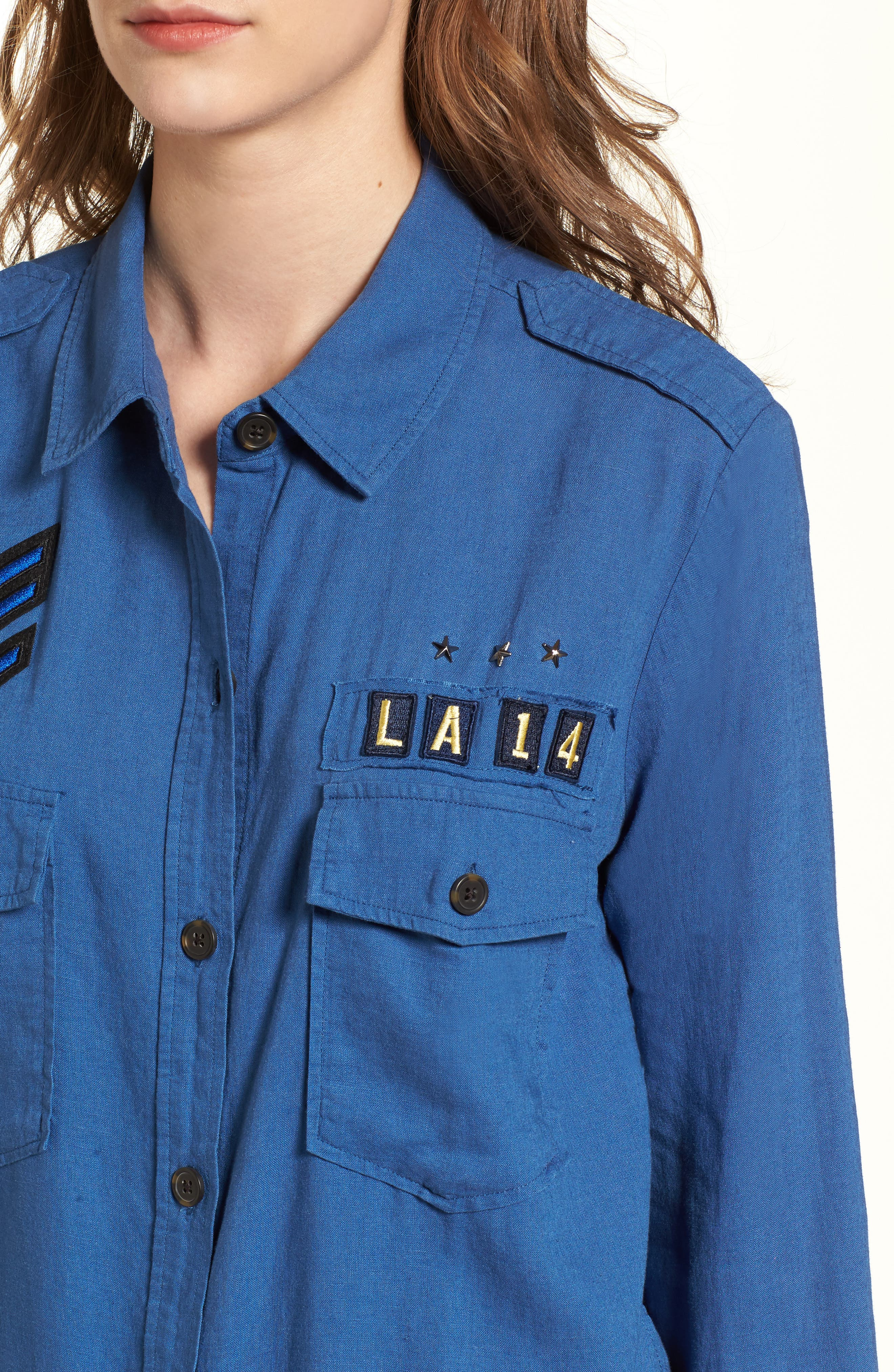 Alternate Image 5  - Rails Banks Military Patch Shirt