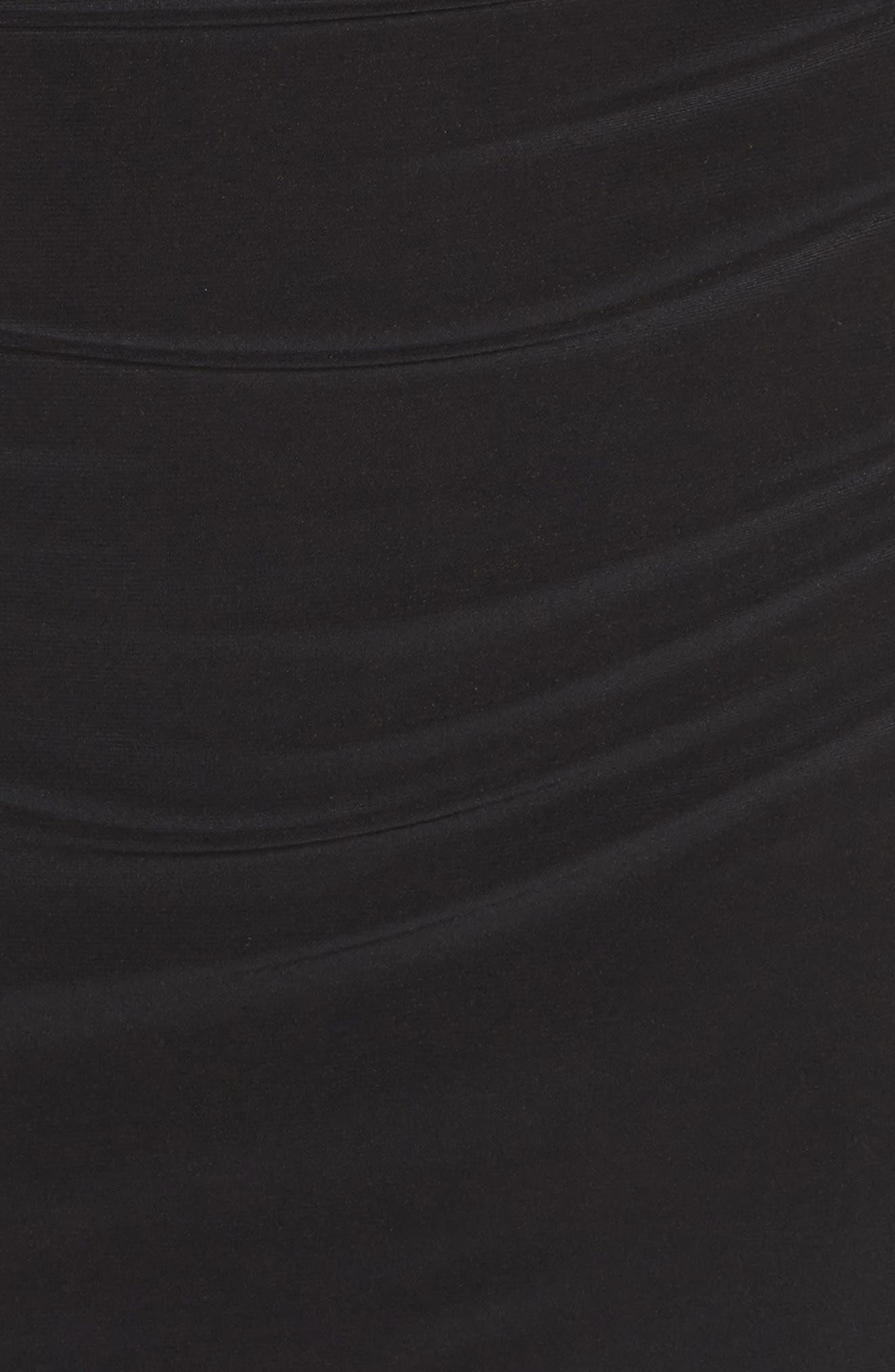 Jacey Off the Shoulder Sheath Dress,                             Alternate thumbnail 5, color,                             Black