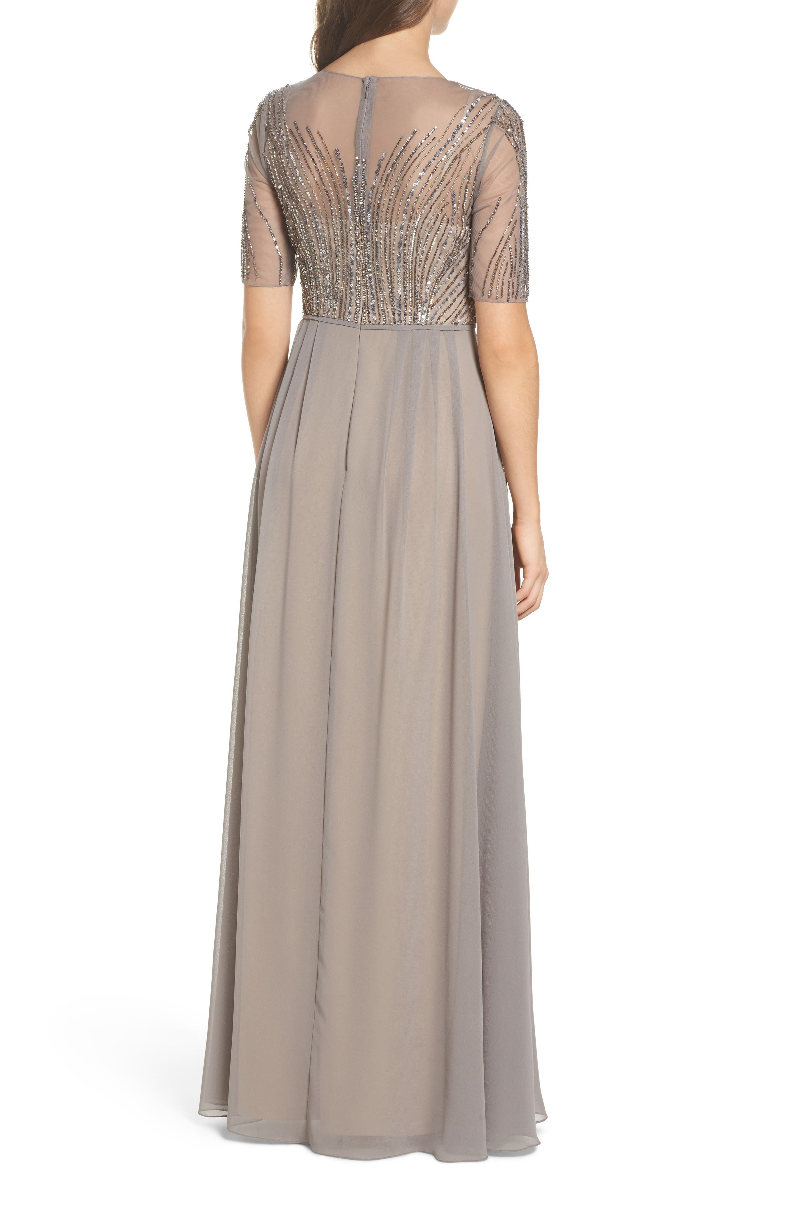 Alternate Image 2  - Adrianna Papell Embellished Georgette Gown