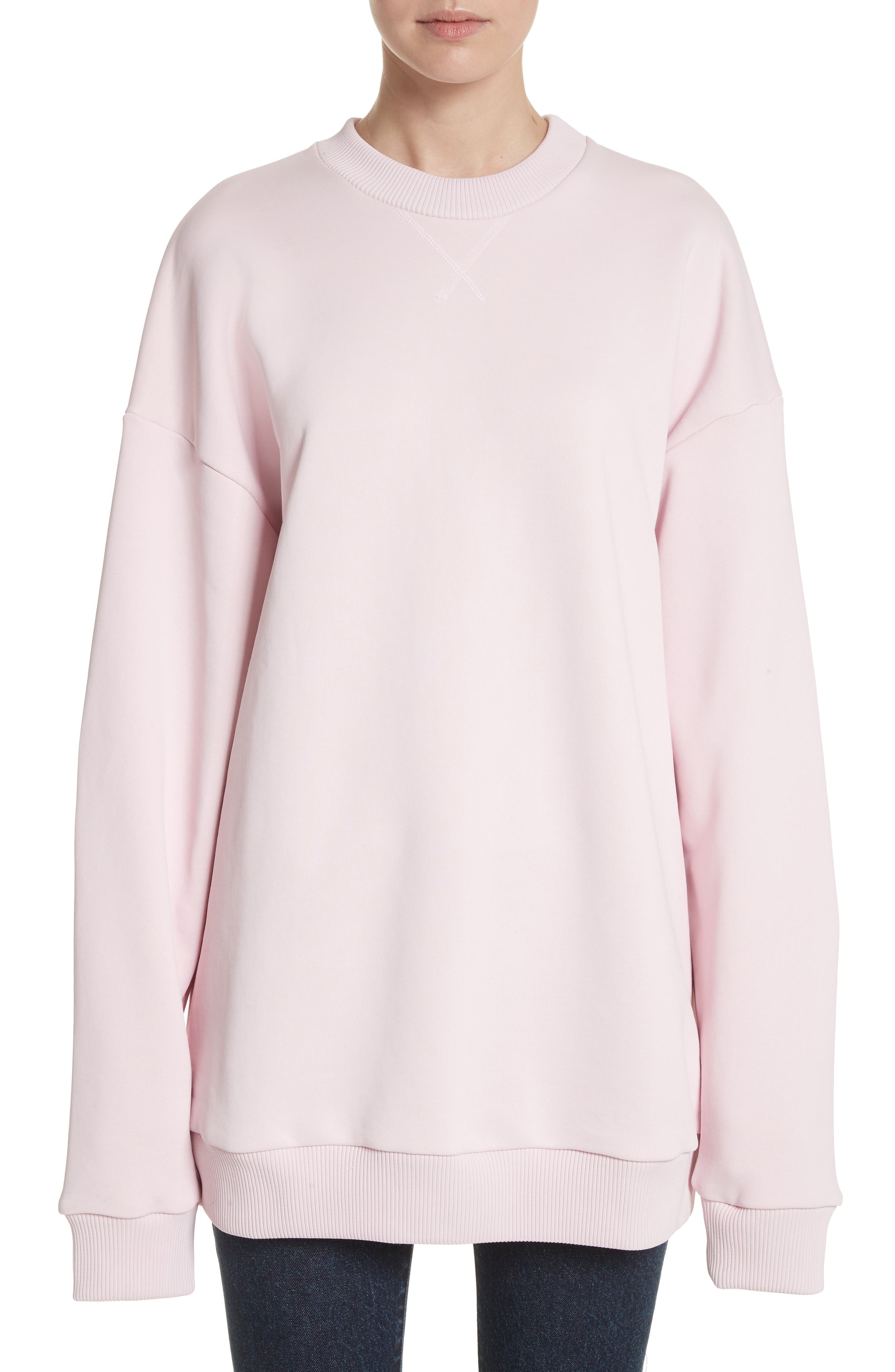 MARQUES  ALMEIDA PINK OVERSIZED SWEATSHIRT DRESS 15b6a201c